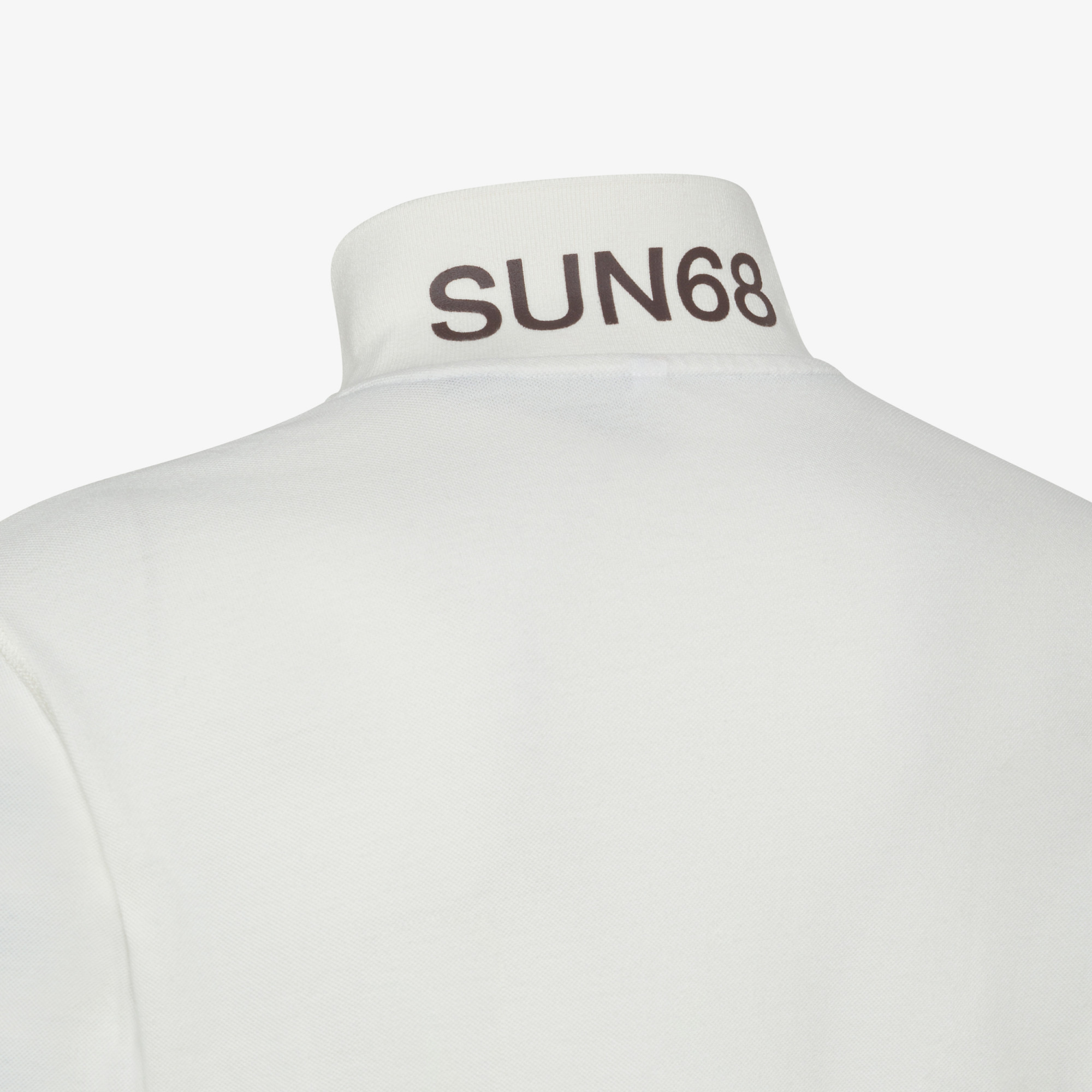 POLO VINTAGE CONTRAST STICHING L/S OFF WHITE