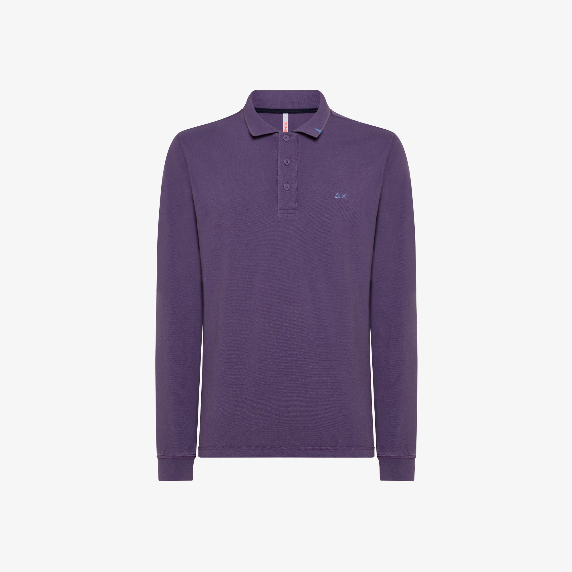 POLO VINTAGE CONTRAST STICHING L/S LAMPONE