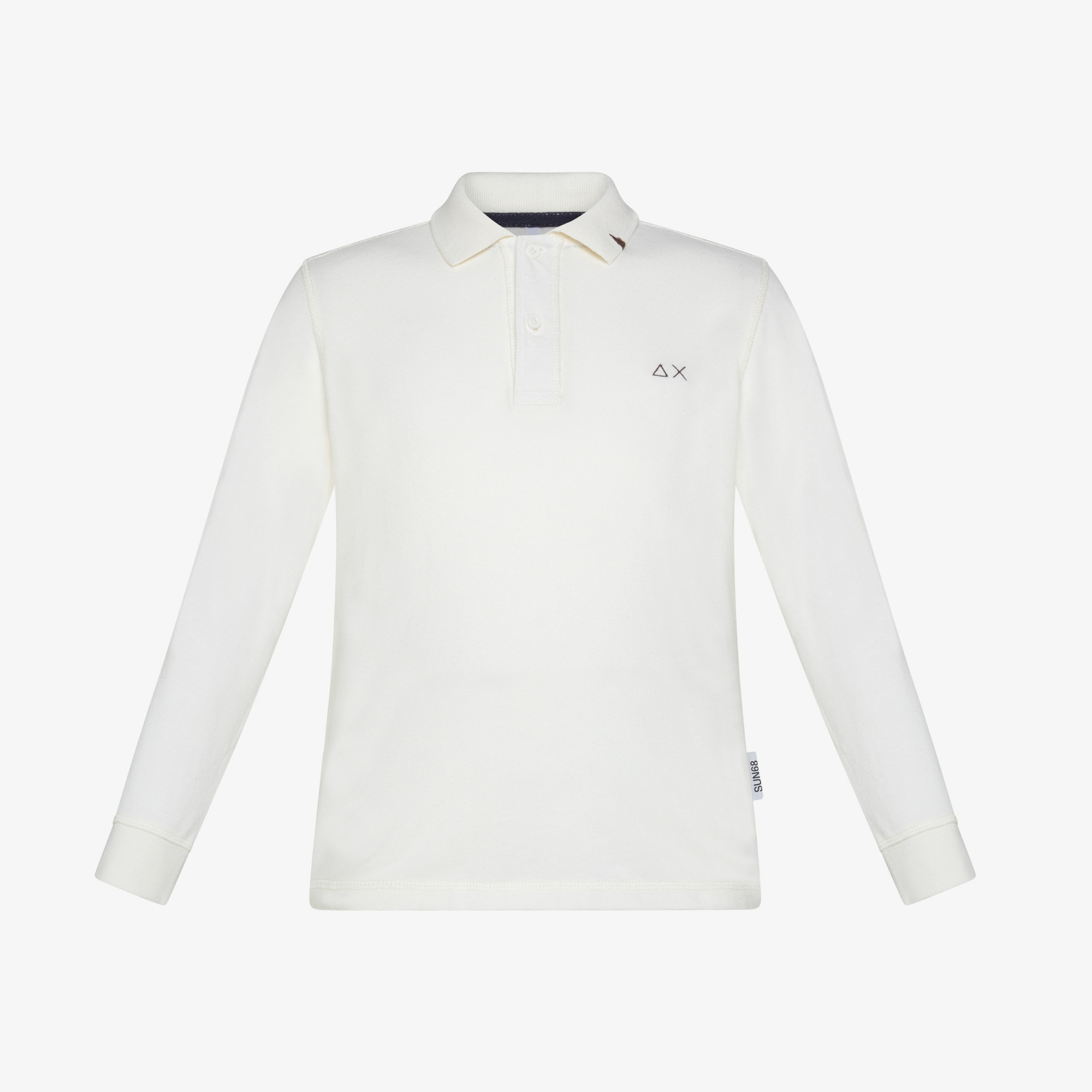 BOY'S POLO VINTAGE CONTRAST STICHING L/S OFF WHITE