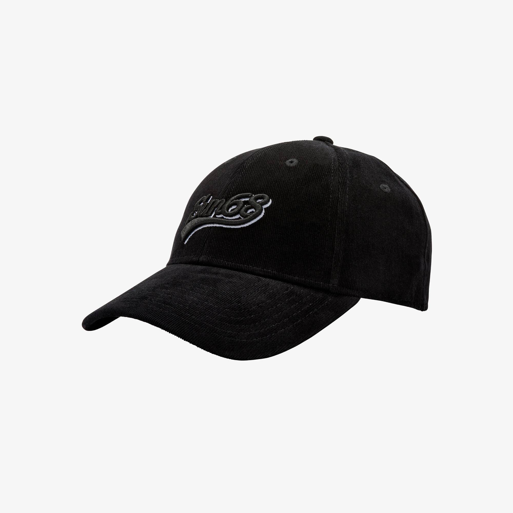 BASEBALL CAP CORDUROY BLACK