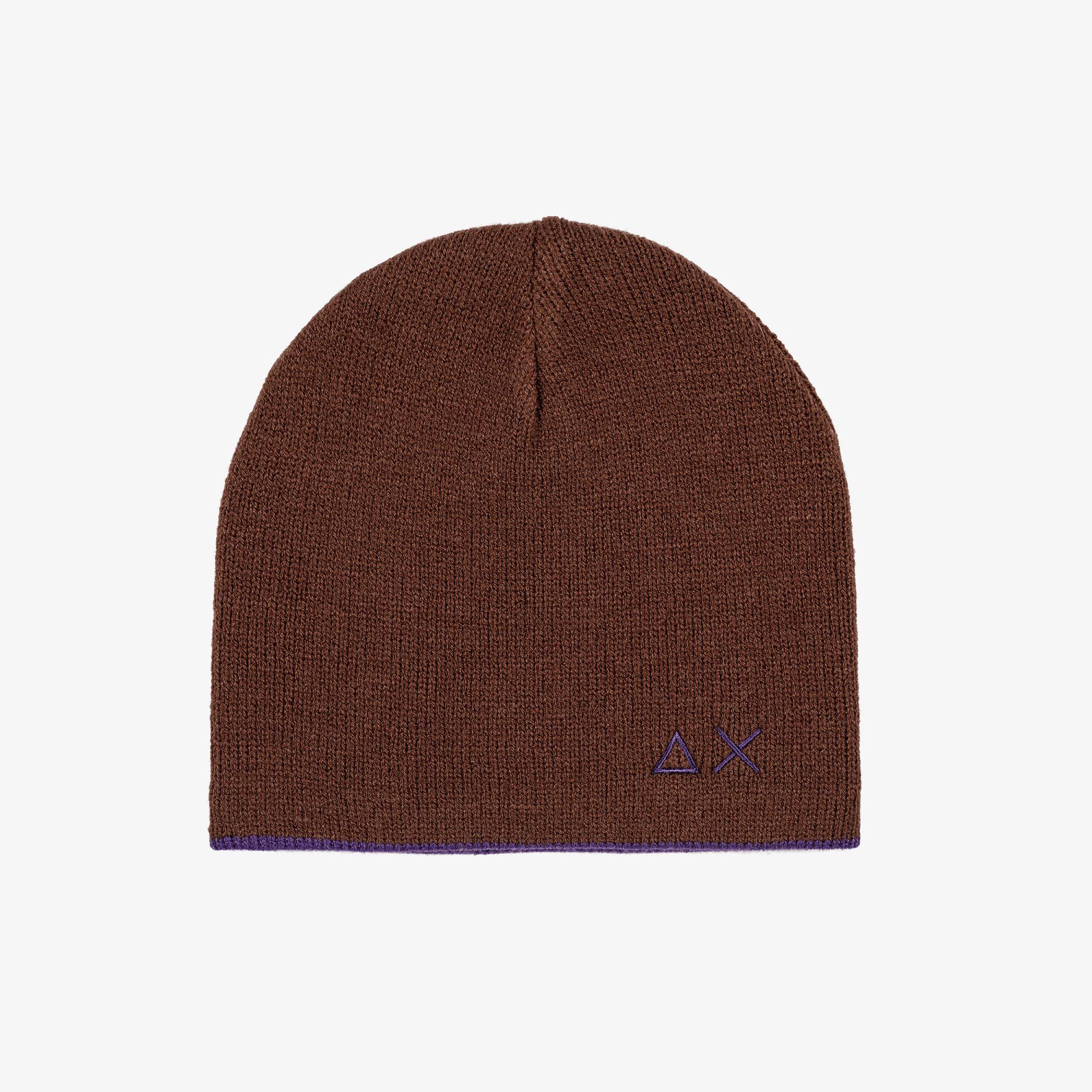 BOY'S CAP BASIC MARRONE