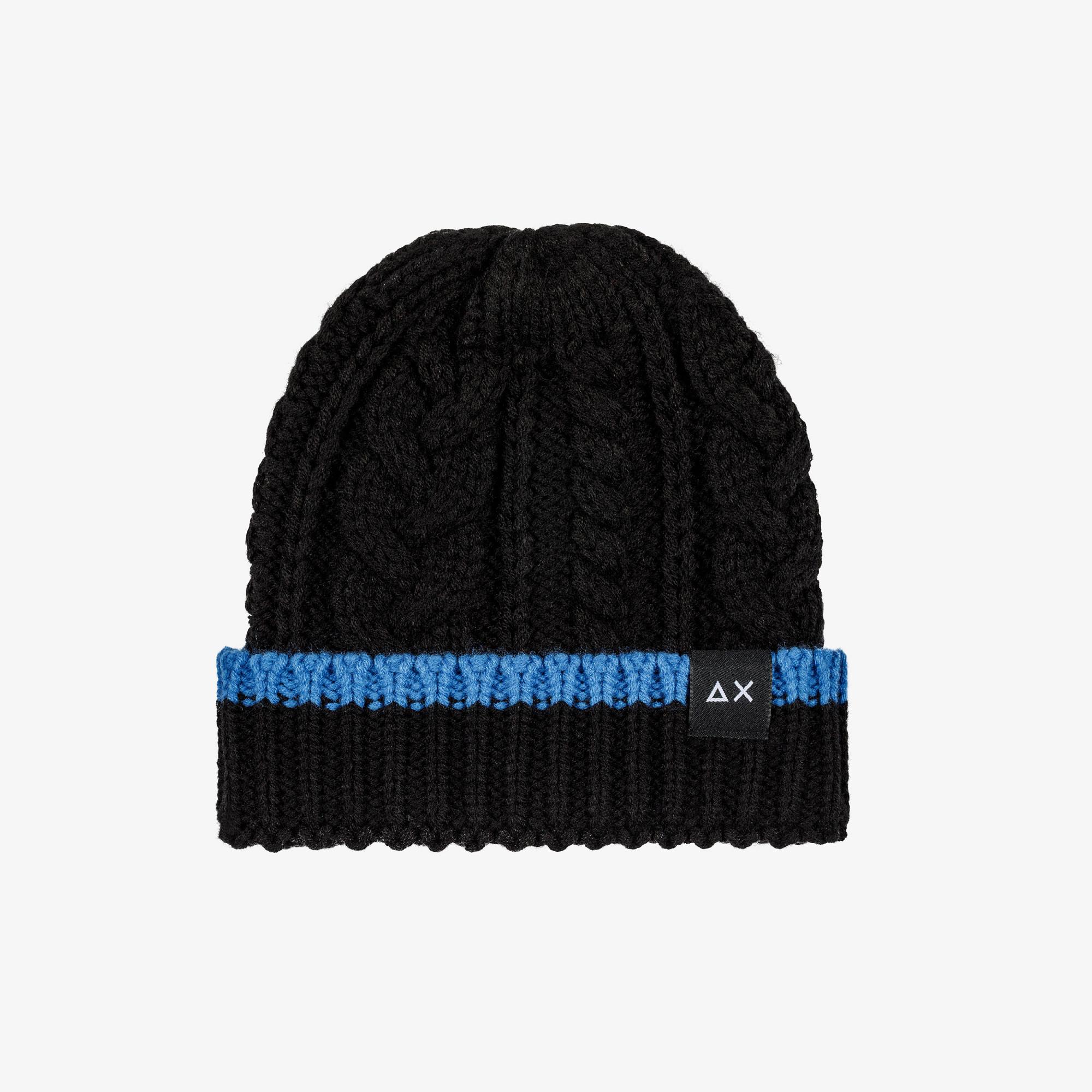 BOY'S CAP CABLE BLACK