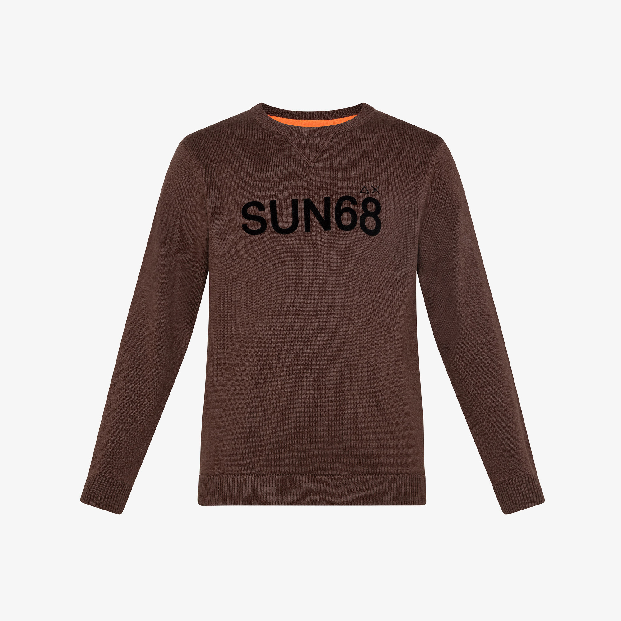 BOY'S ROUND LETTERING ON CHEST BROWN
