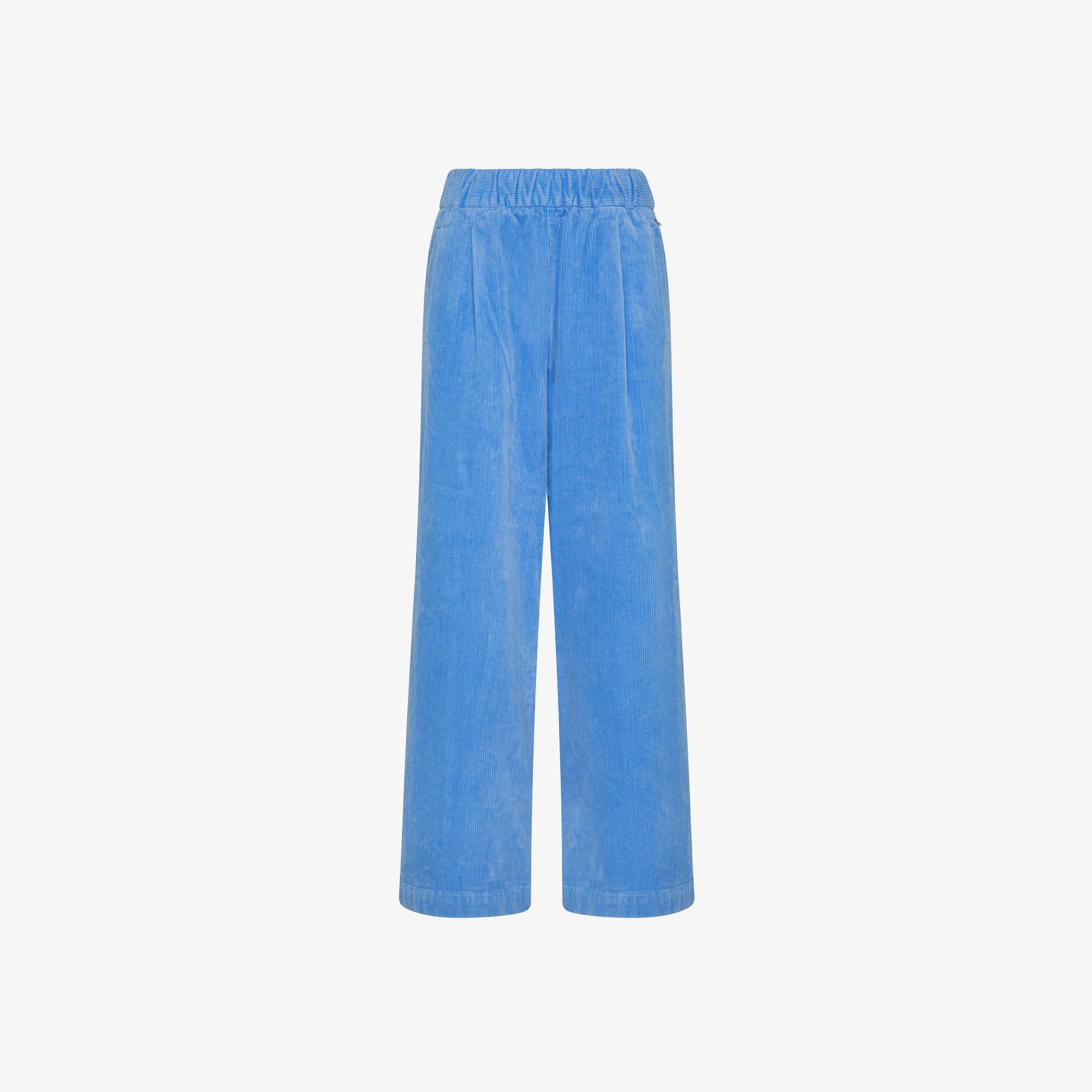 PANT WIDE LEGS CORDUROY BLUE