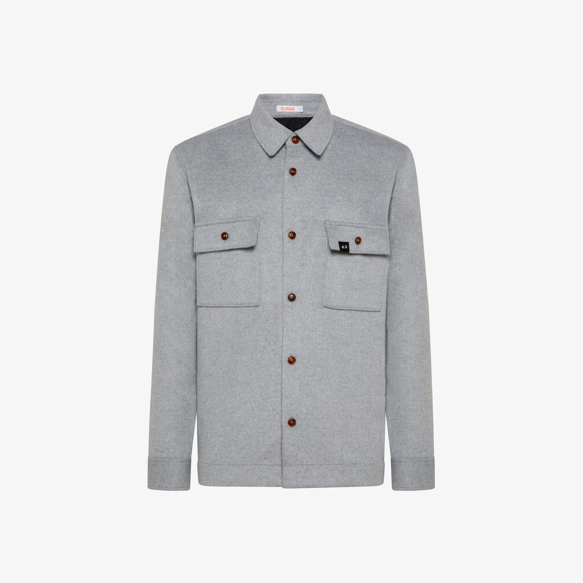 OVERSHIRT WITH POCKET ON CHEST L/S LIGHT GREY