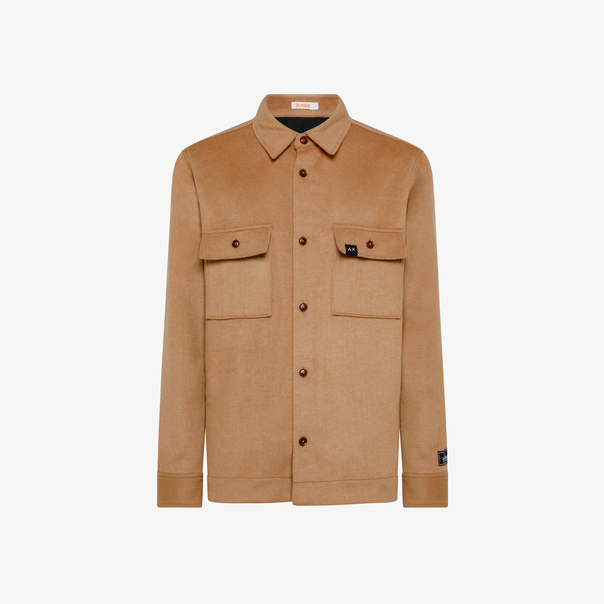 OVERSHIRT WITH POCKET ON CHEST L/S CAMEL