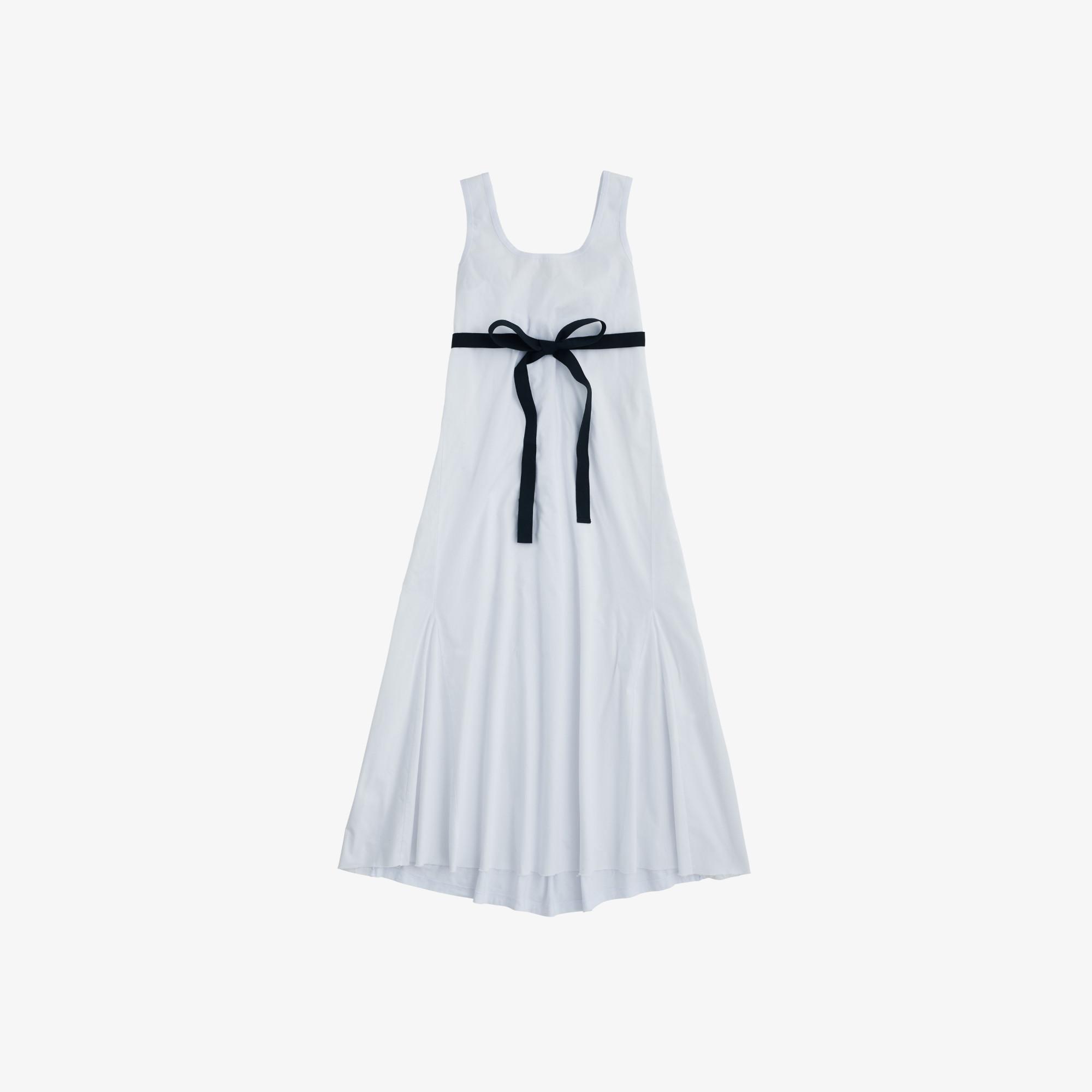 DRESS BI-FABRIC NO SLV WHITE