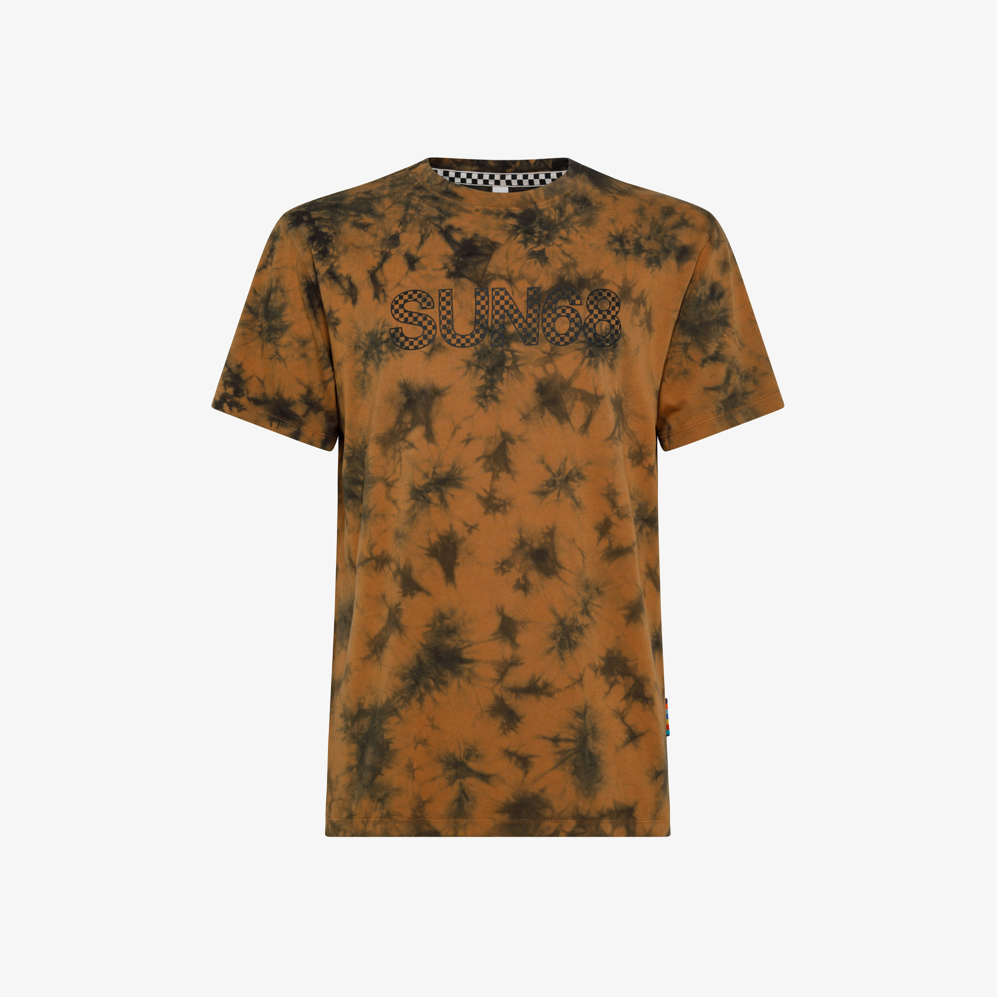 T-SHIRT ROUND GARMENT DYED S/S CAMEL