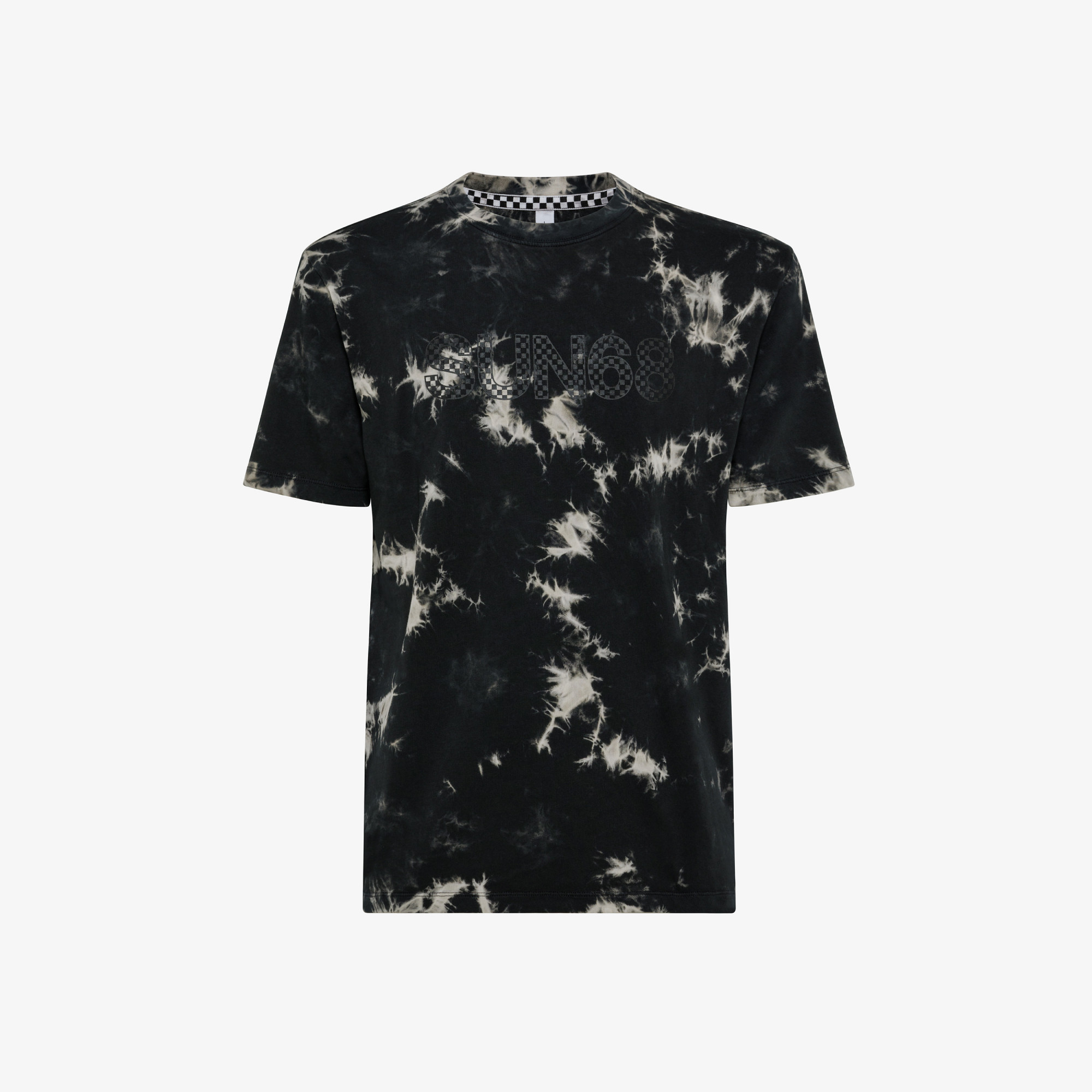 T-SHIRT ROUND GARMENT DYED S/S INK