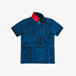 POLO FULL PRINT EL. DEEP BLUE/NAVY BLUE