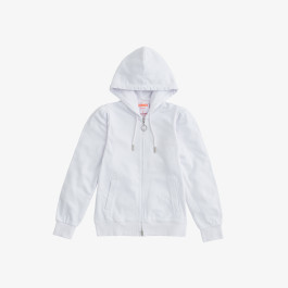 FULL ZIP HOOD COTTON FL. WHITE