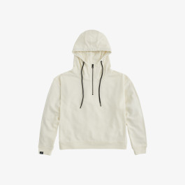 HOOD BACK PRINT COTTON FL OFF WHITE