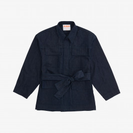 SAHARAN DENIM JACKET NAVY BLUE