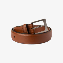 LEATHER BELT MARRONE