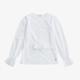 SHIRT WITH BELT L/S WHITE