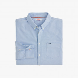 SHIRT OXFORD B/D L/S LIGHT BLUE