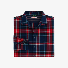 SHIRT BIG DETAILS FRENCH COLLAR L/S NAVY BLUE/ROSSO