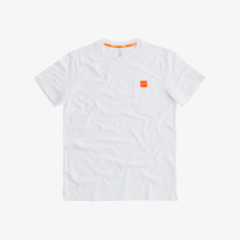 T-SHIRT ROUND POCKET LOGO WHITE