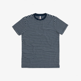T-SHIRT ROUND FULL STRIPES NAVY BLUE/BIANCO