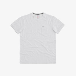 T-SHIRT SOLID POCKET S/S BIANCO