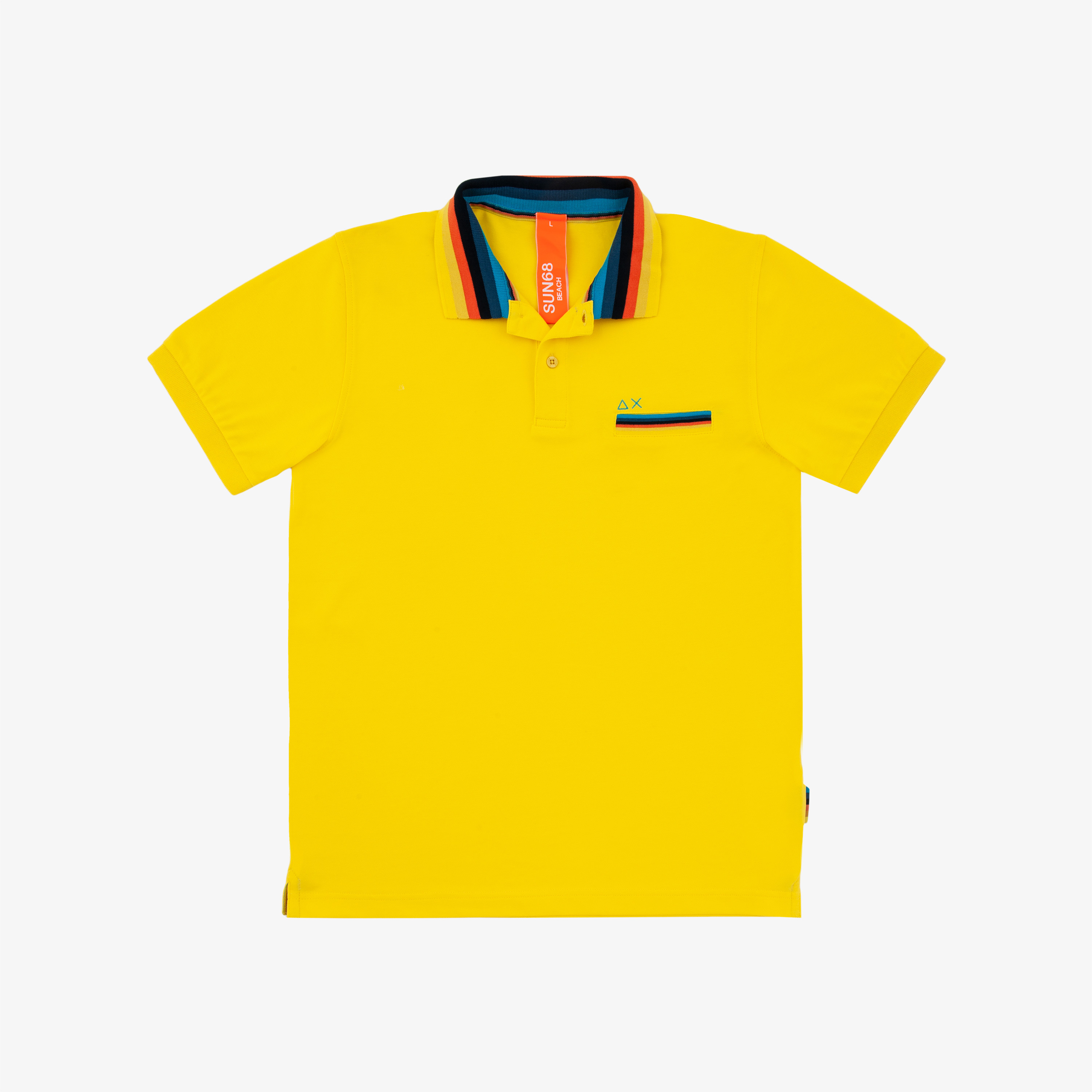 POLO STRIPES ON COLLAR EL. GIALLO