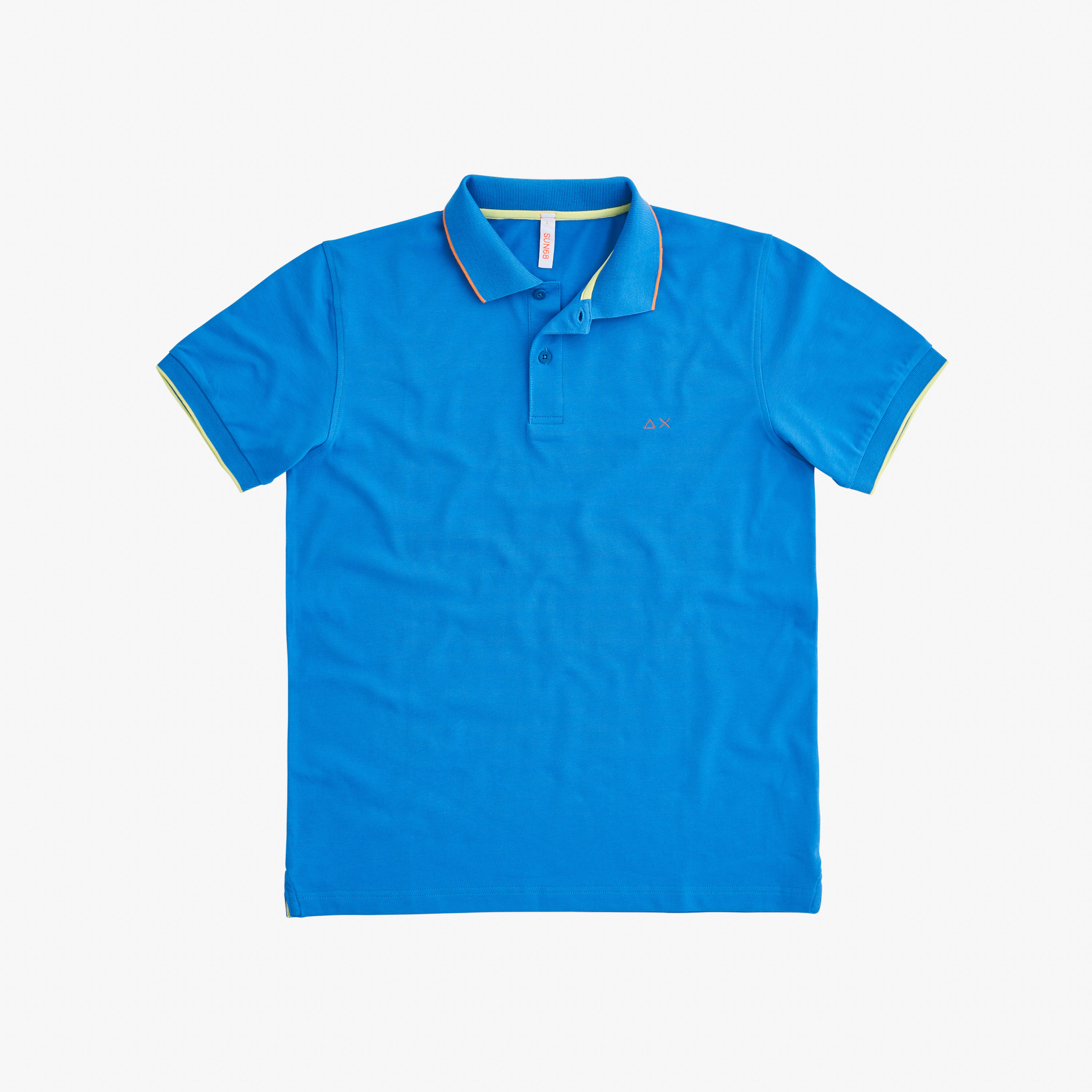 POLO SMALL STRIPES ON COLLAR EL. BLUE