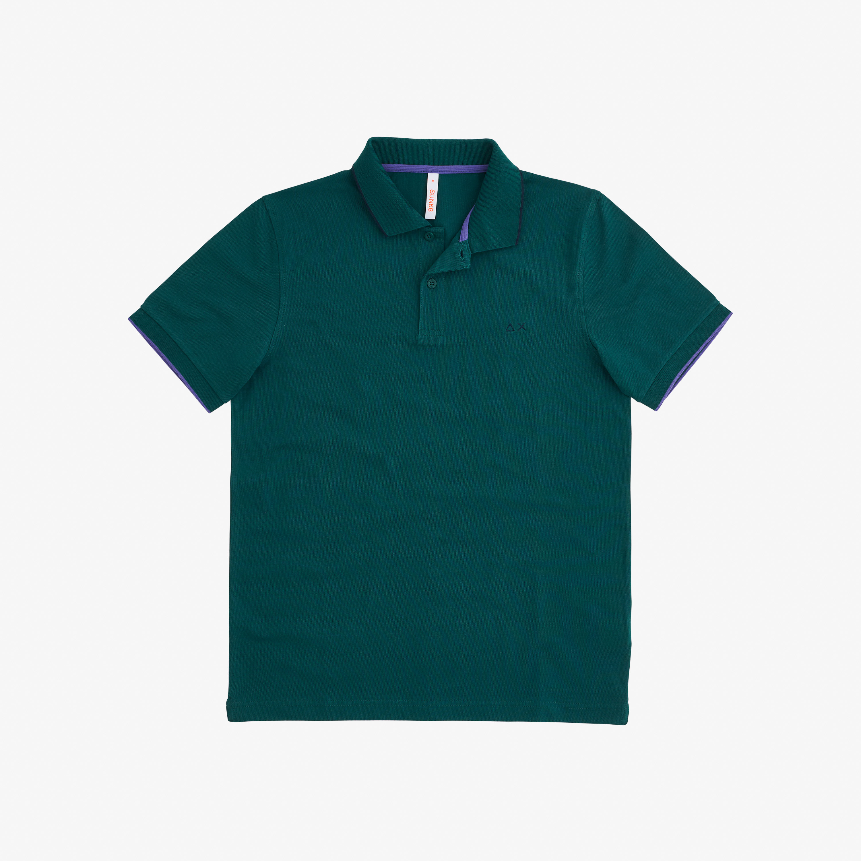 POLO SMALL STRIPES ON COLLAR EL. VERDE INGLESE
