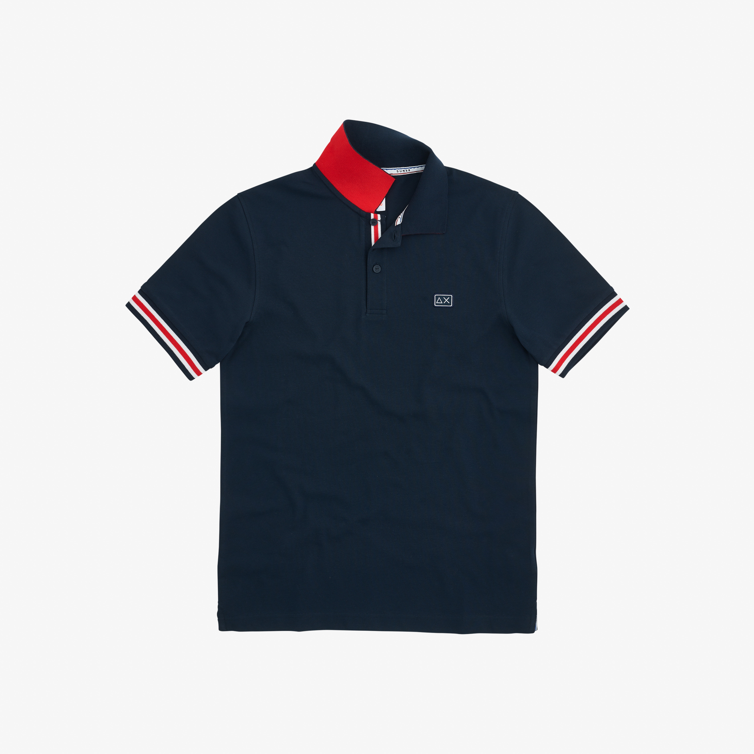 POLO STRIPES ON FRONT PLACKET EL. NAVY BLUE