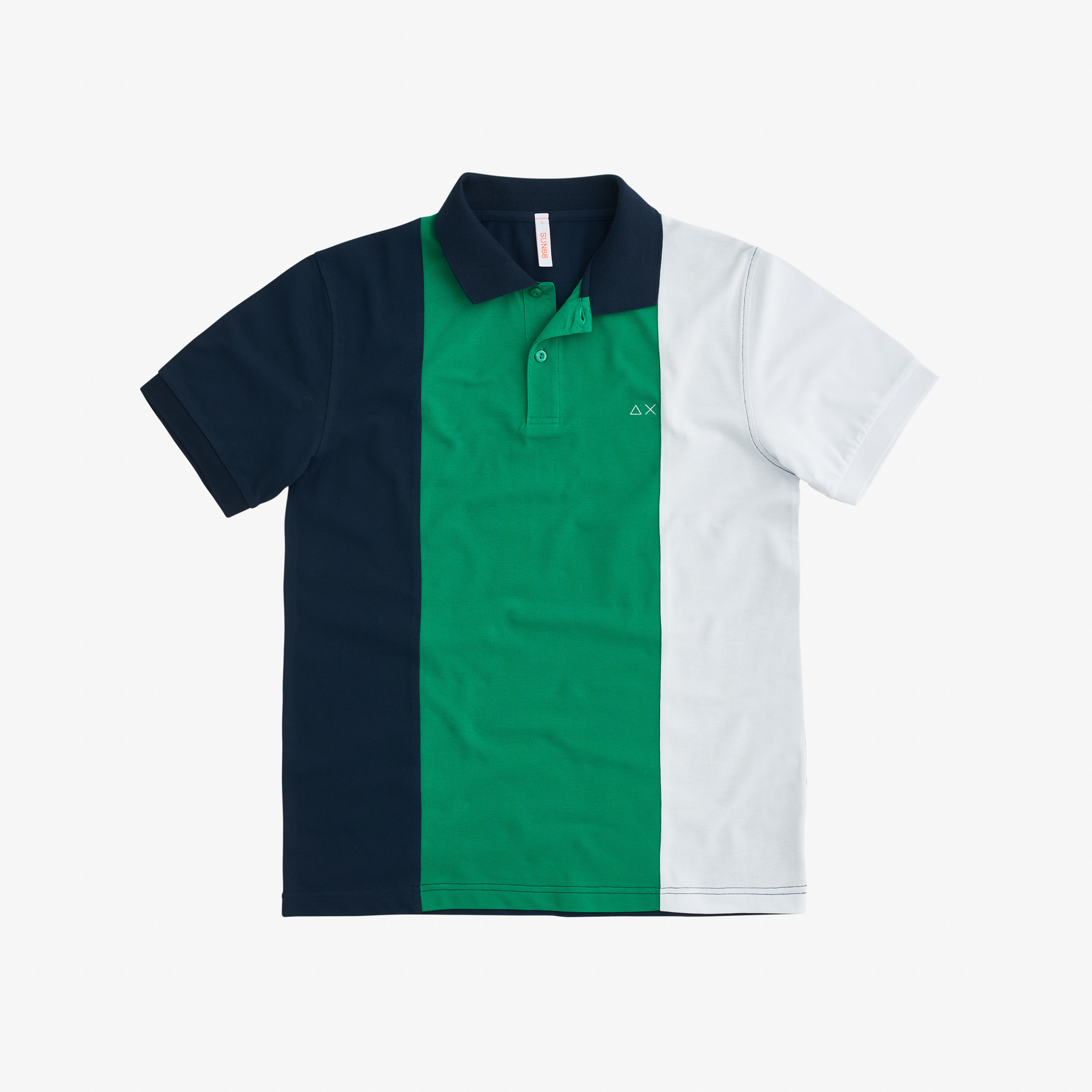 POLO FULL STRIPES EL. NAVY BLUE/VERDE PRATO