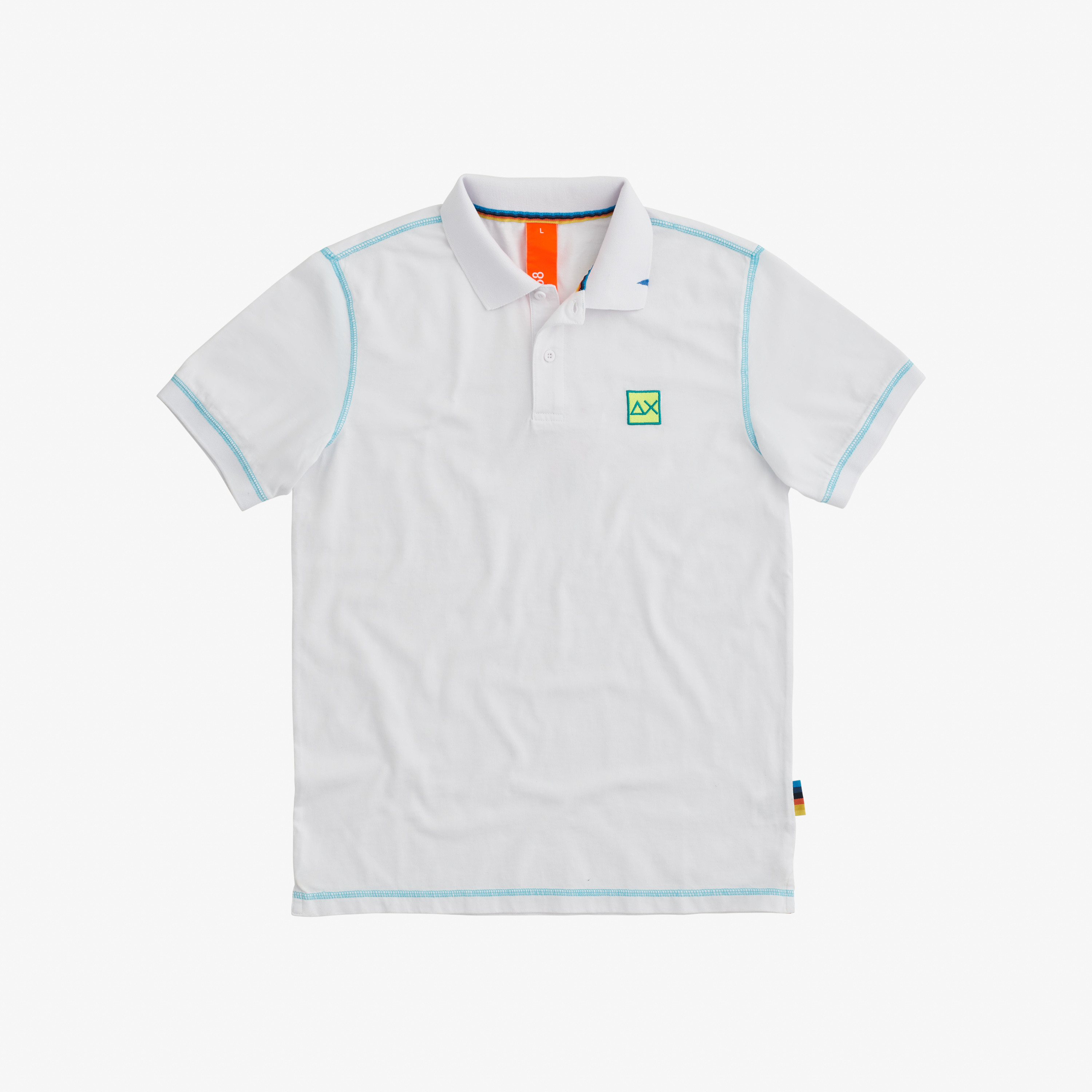 POLO COLD DYE CONTRAST STITCHING BIANCO