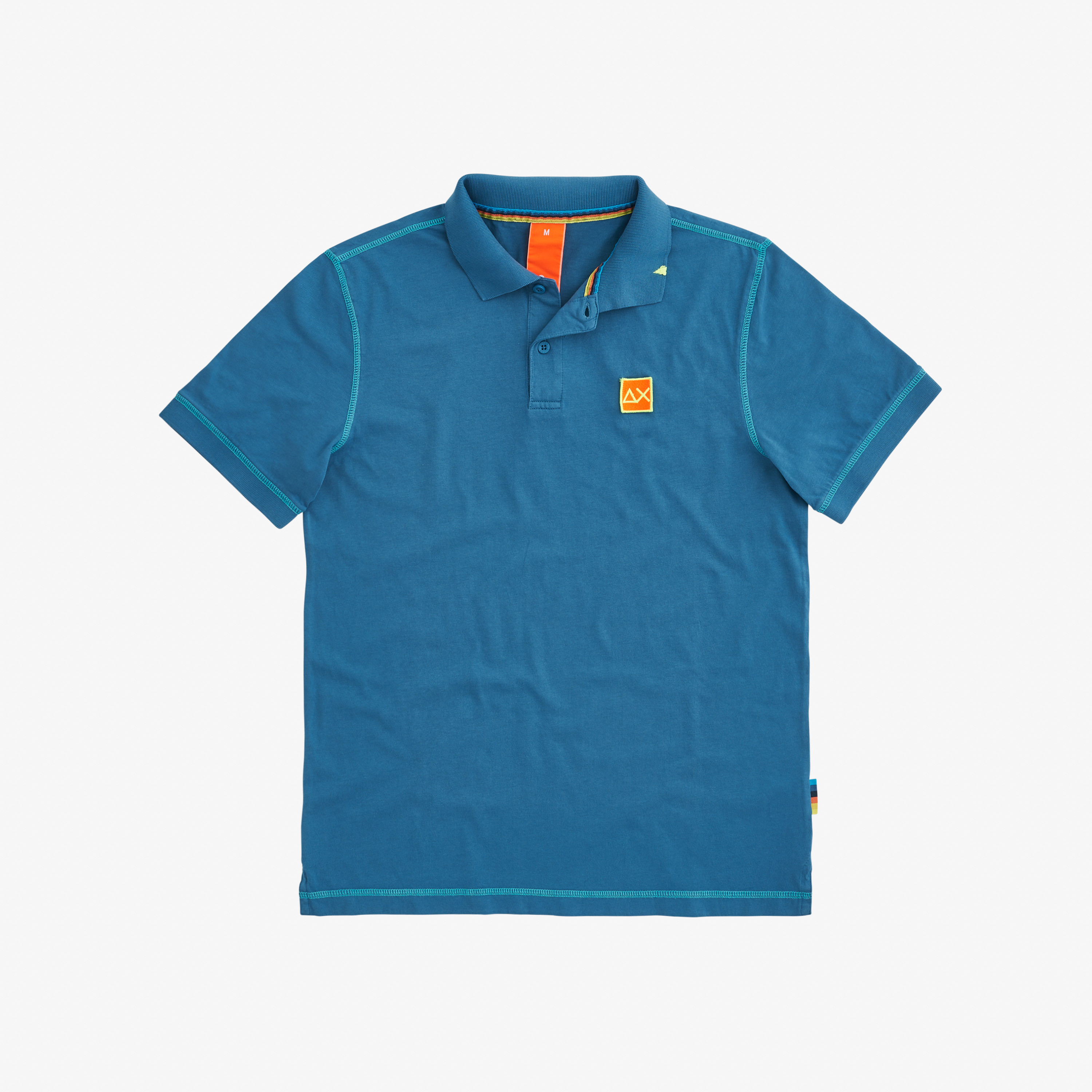 POLO COLD DYE CONTRAST STITCHING DEEP BLUE