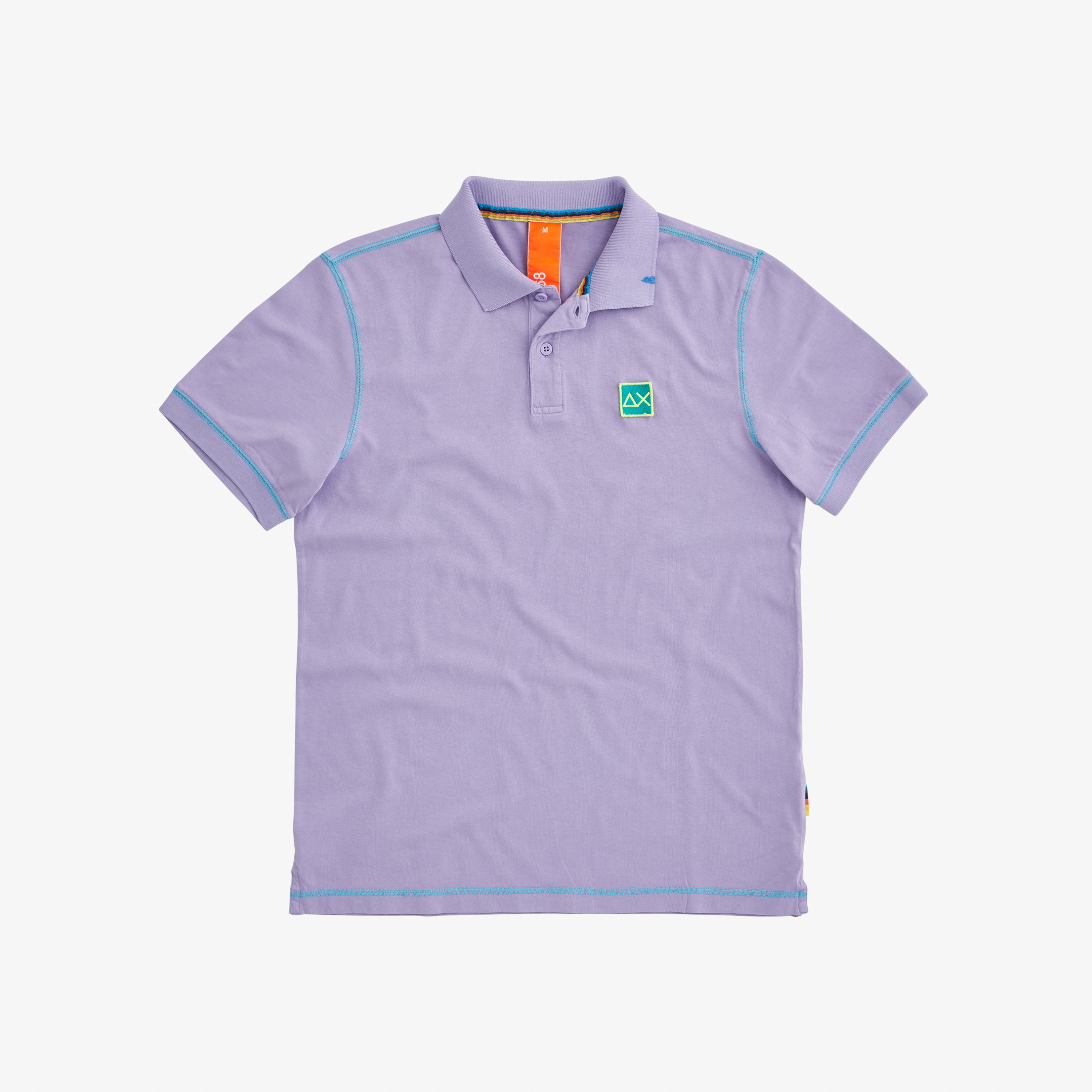 POLO COLD DYE CONTRAST STITCHING LAVENDER