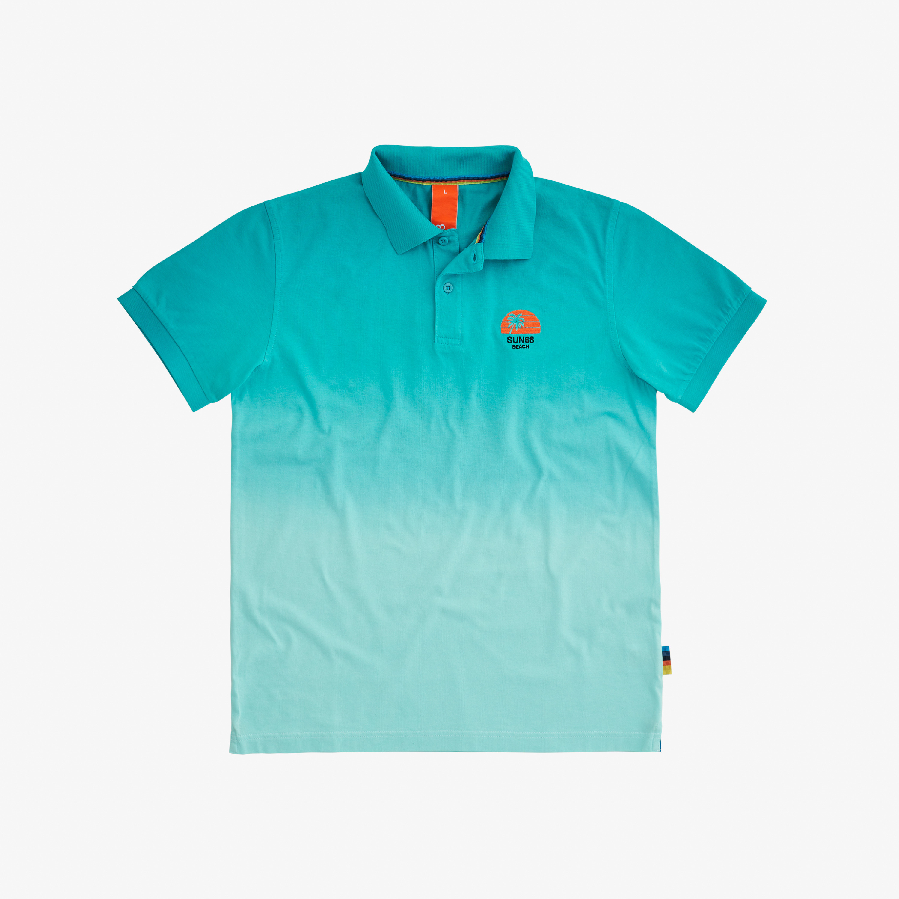 POLO HANG DYED ACQUA