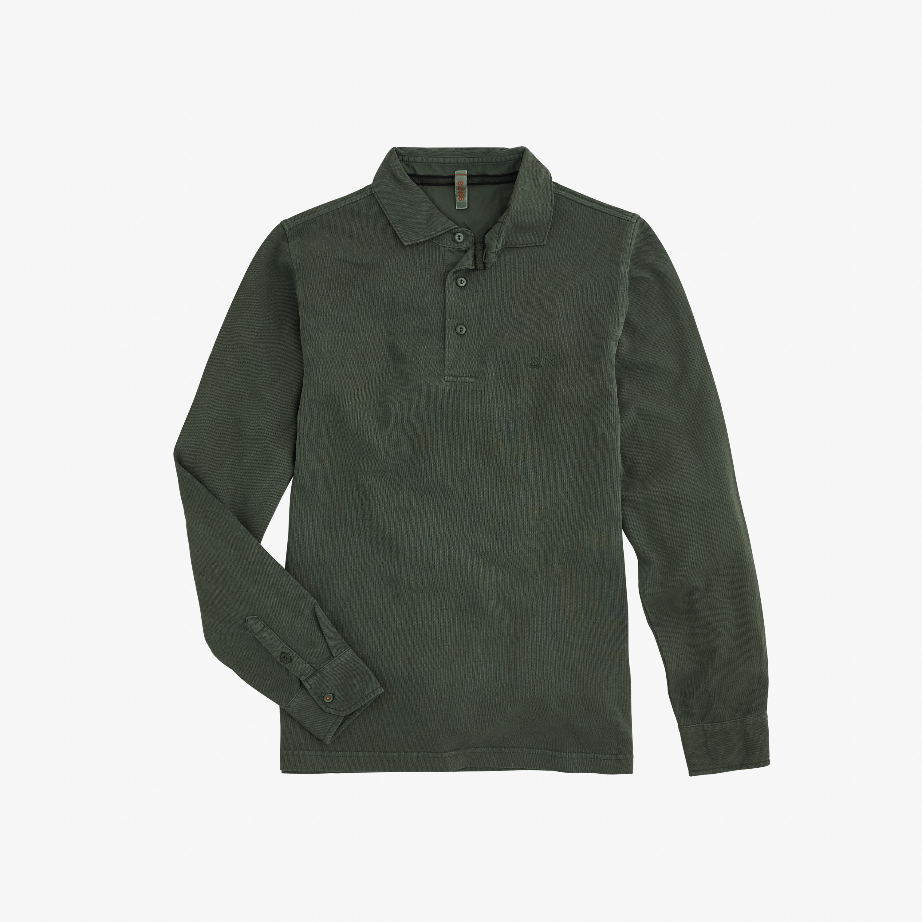 POLO EL. COLD DYE L/S OLIVE