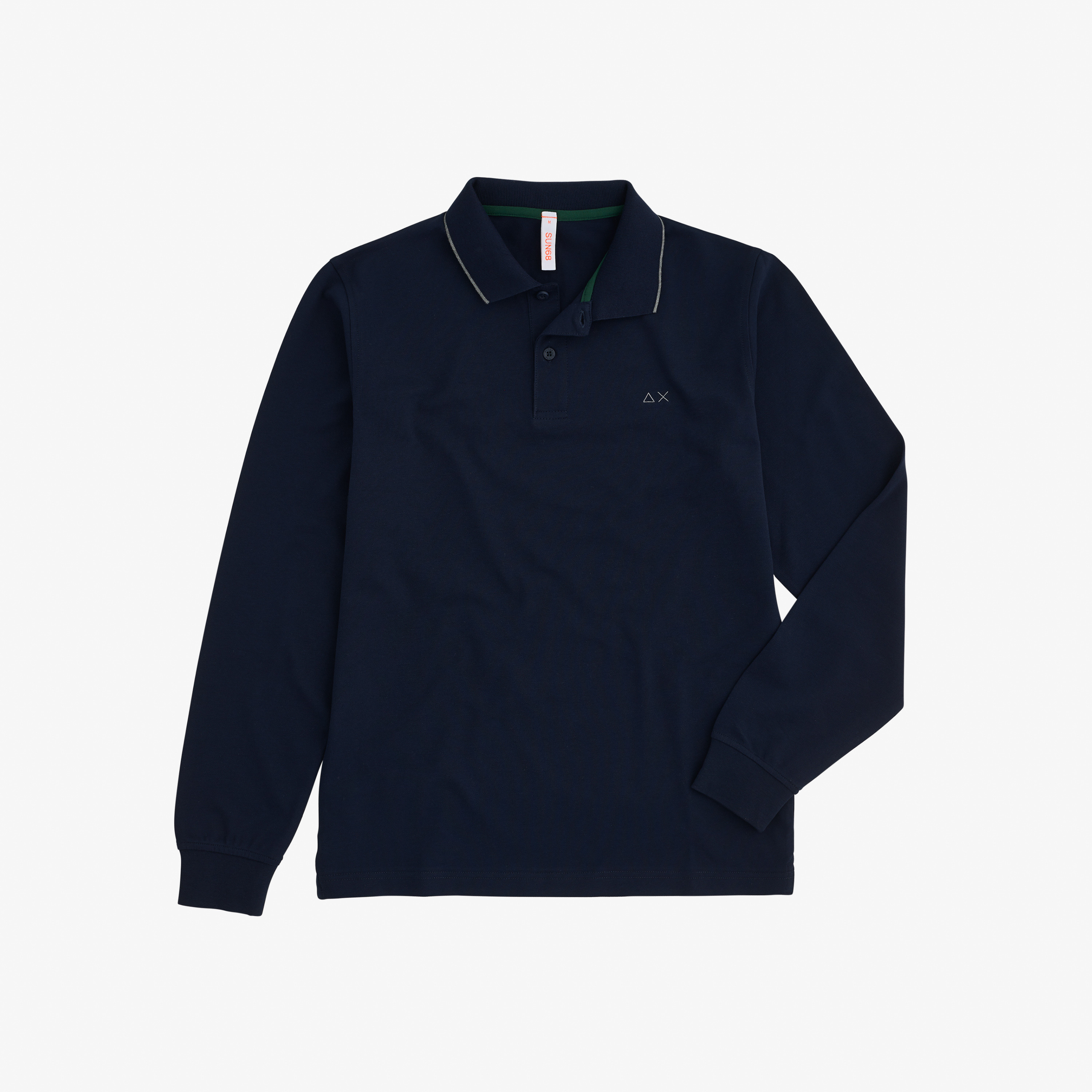 POLO EL. SMALL STRIPES L/S NAVY BLUE