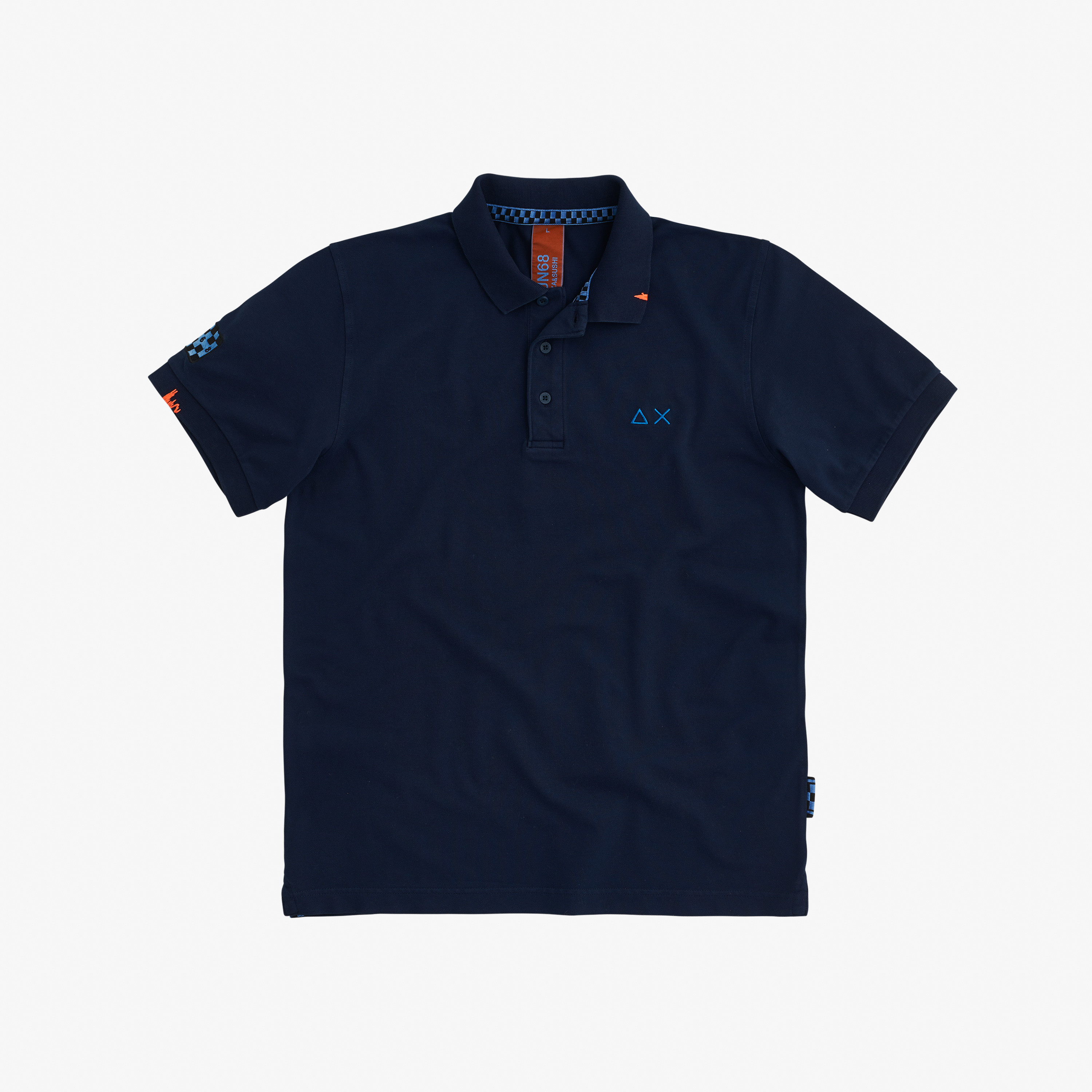 POLO EL. SPECIAL DYED S/S NAVY BLUE