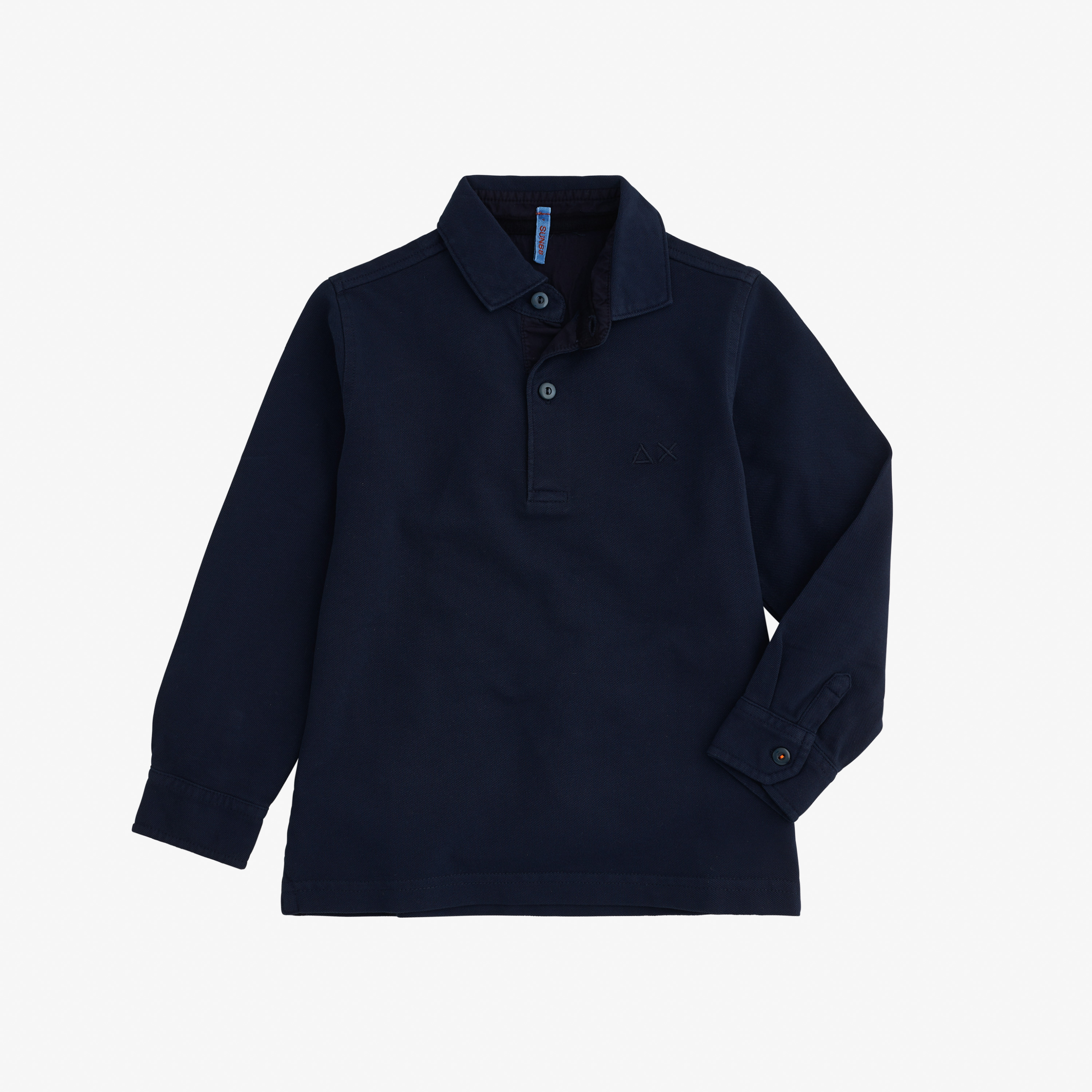 BOY'S POLO COLD DYE L/S NAVY BLUE