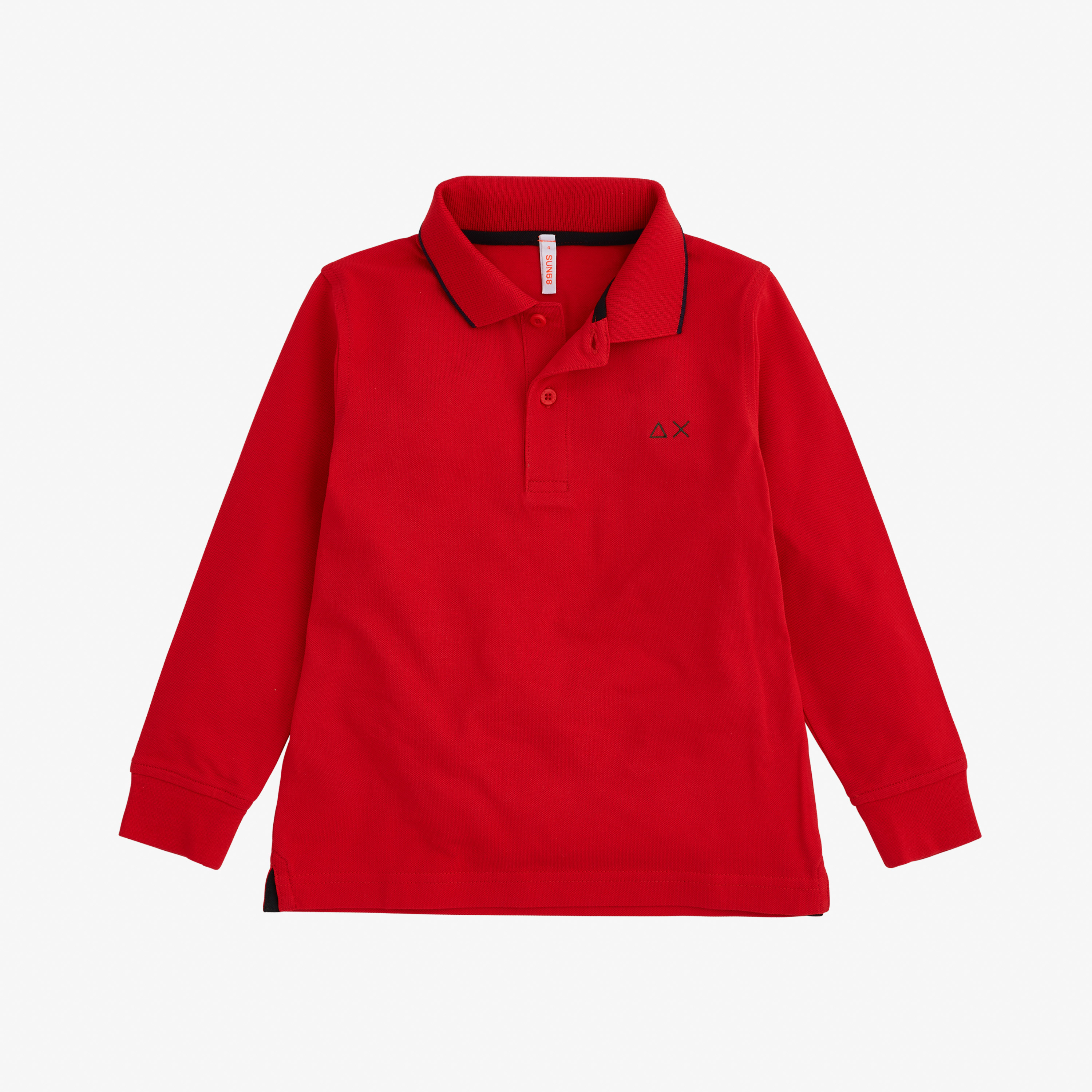 BOY'S POLO SMALL STRIPES L/S RED