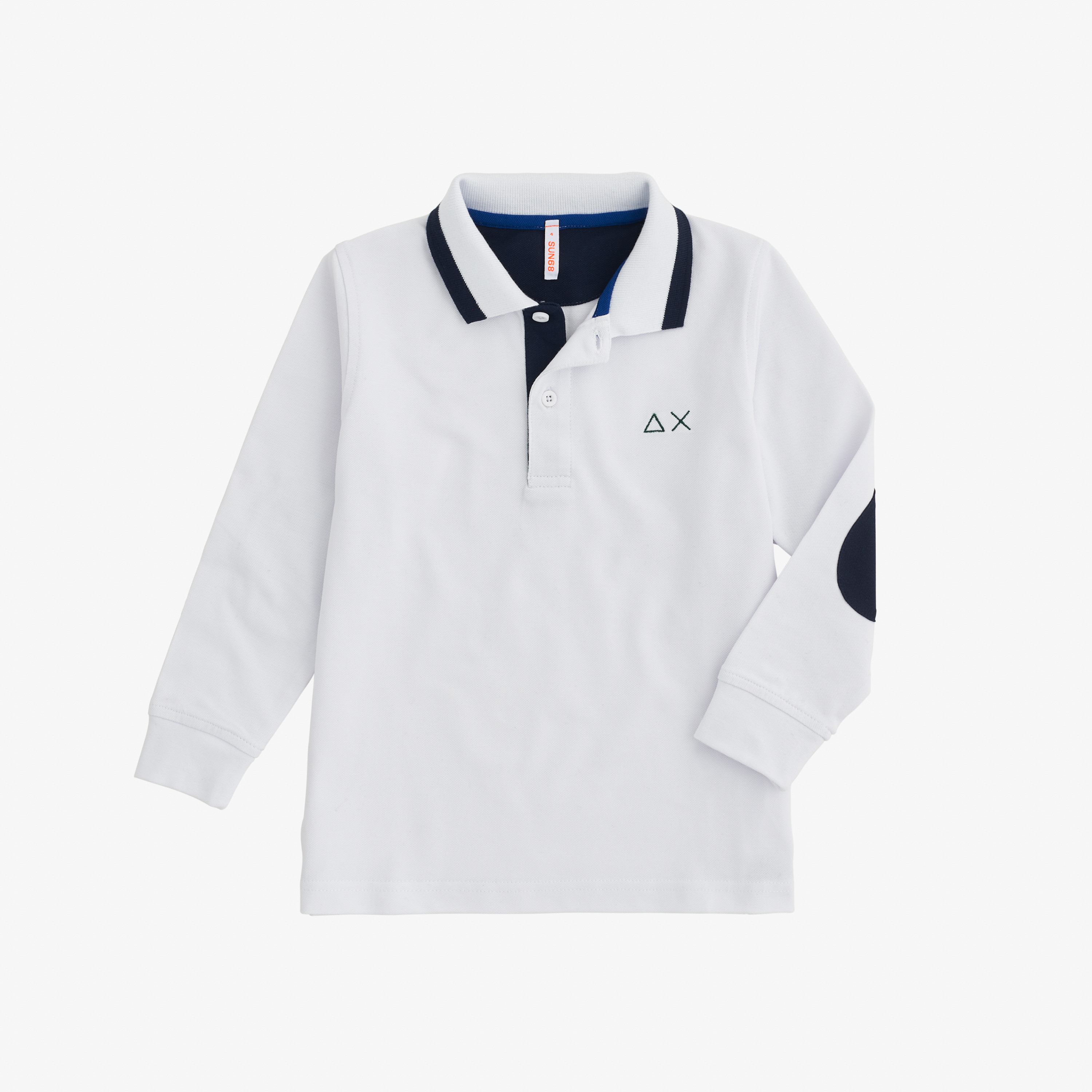 BOY'S POLO BIG STRIPES L/S BIANCO