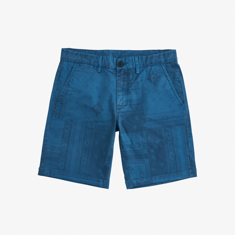 BERMUDA FOLD PRINT DEEP BLUE