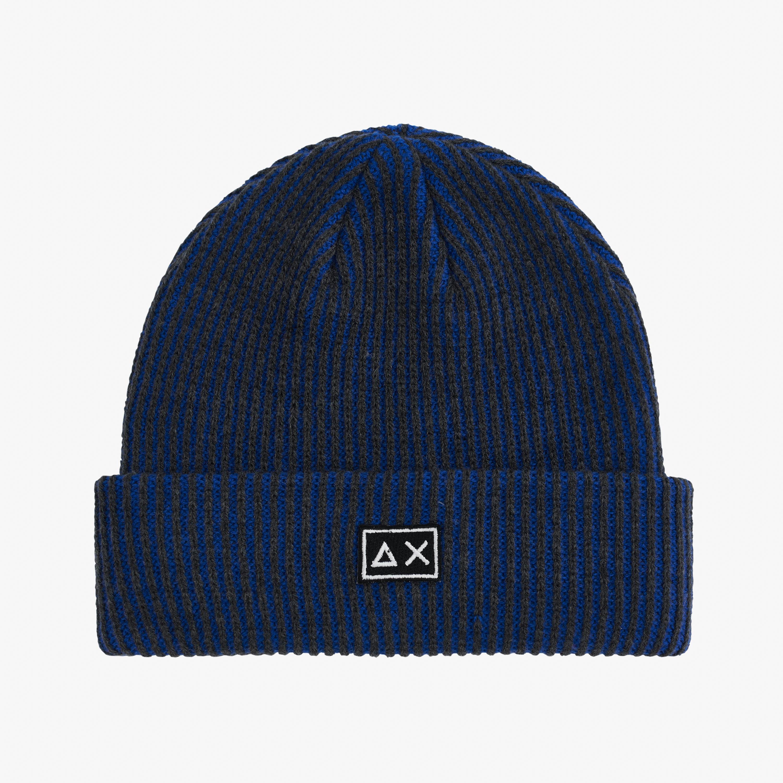 CAP BICOLOR DARK GREY/DEEP BLUE