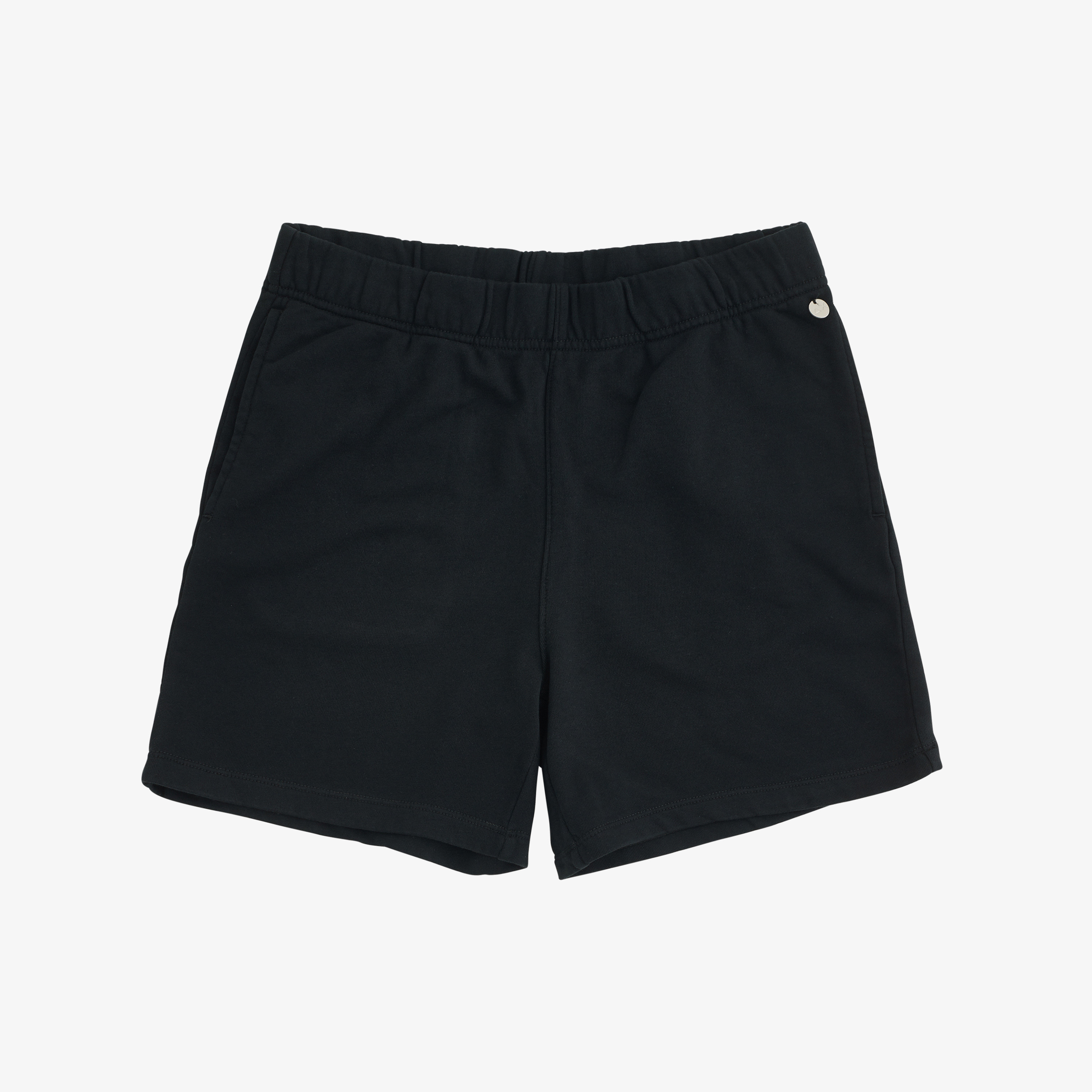 SHORT SOLID COTTON FL. BLACK