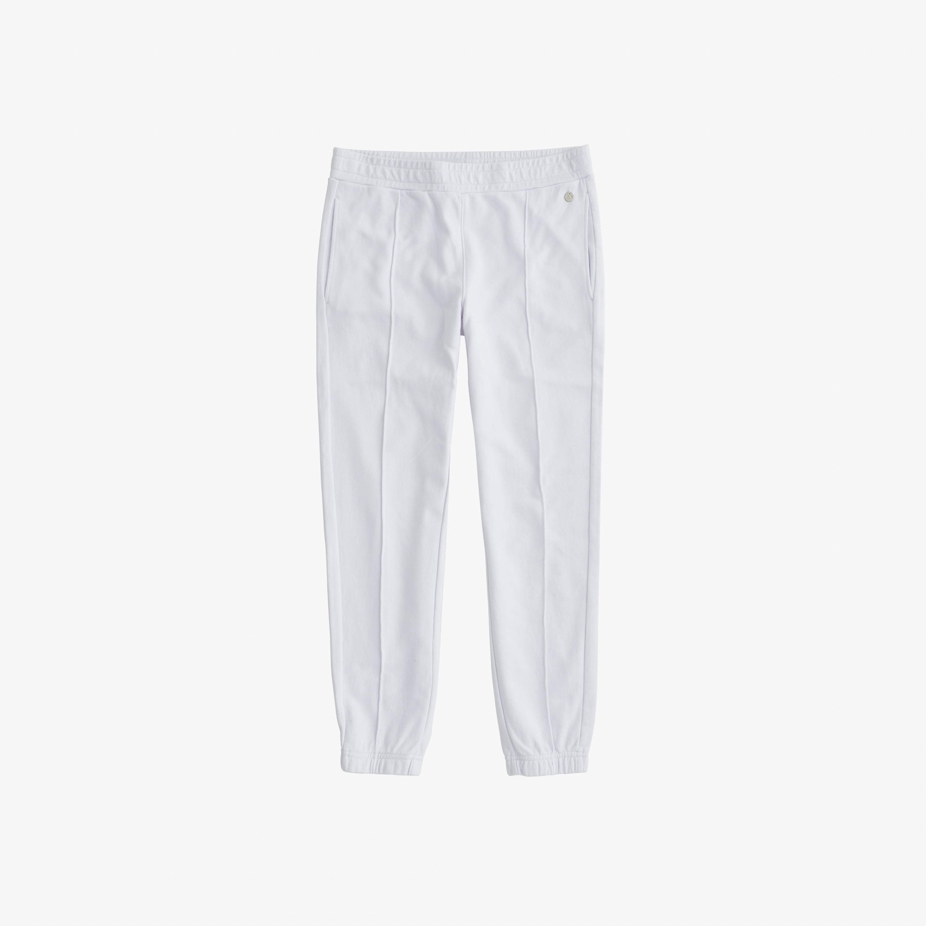 PANT BAGGY SOLID COTTON FL. WHITE