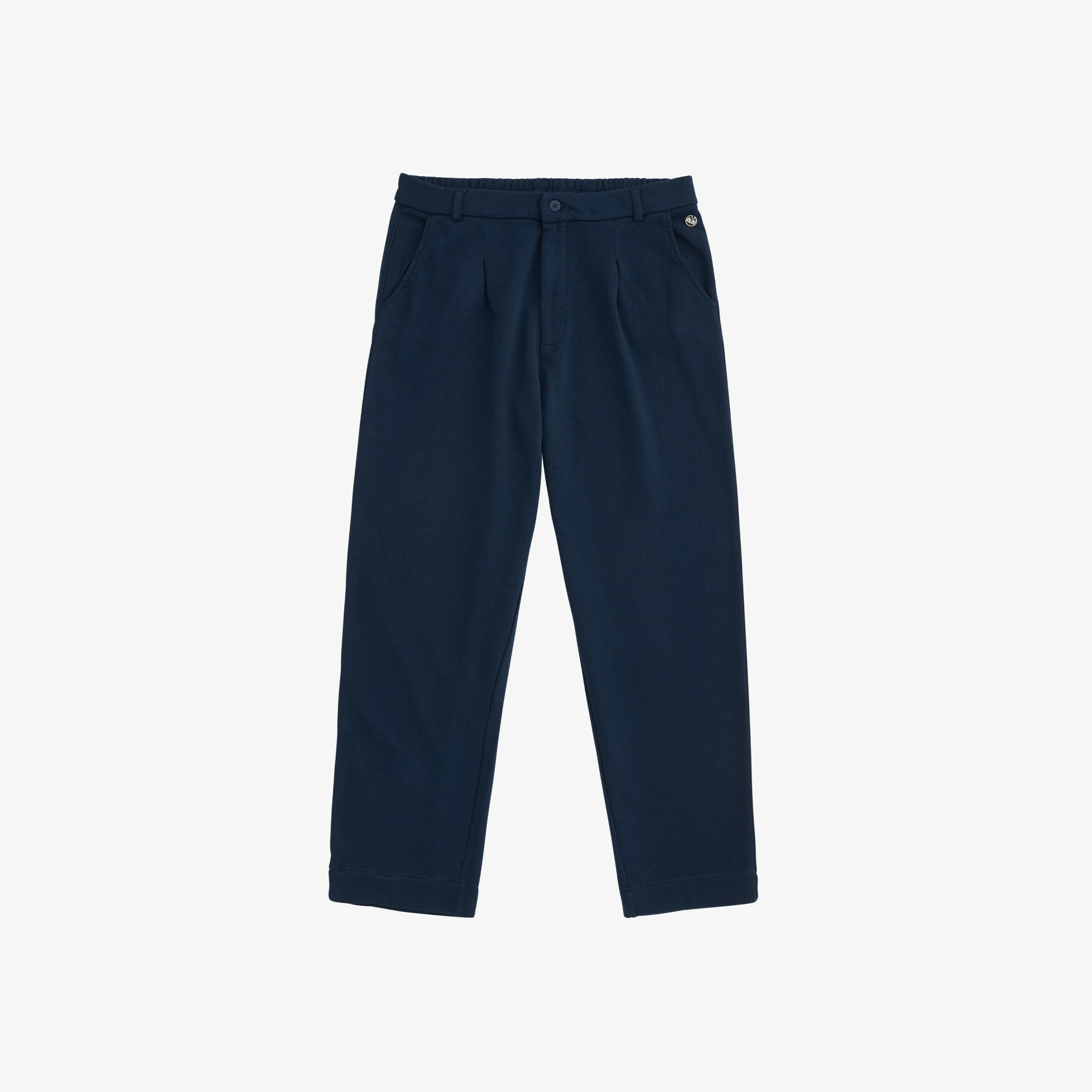 PANT FORMAL COTTON FL. NAVY BLUE