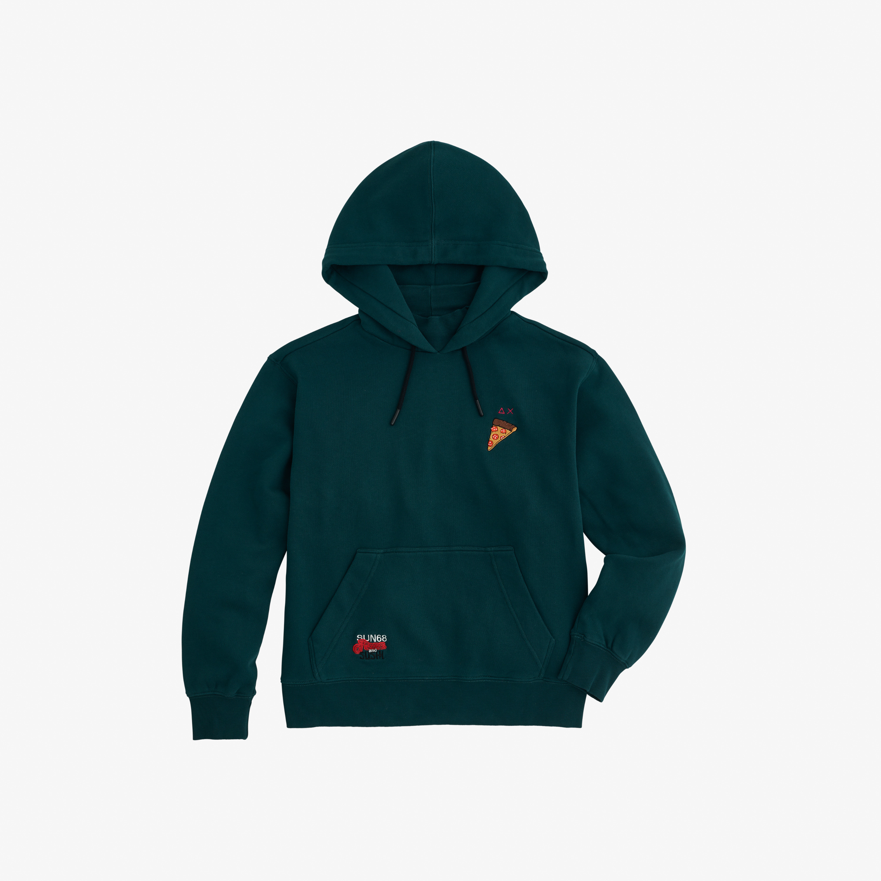 HOOD BASIC COTTON FL GREEN EMERALD