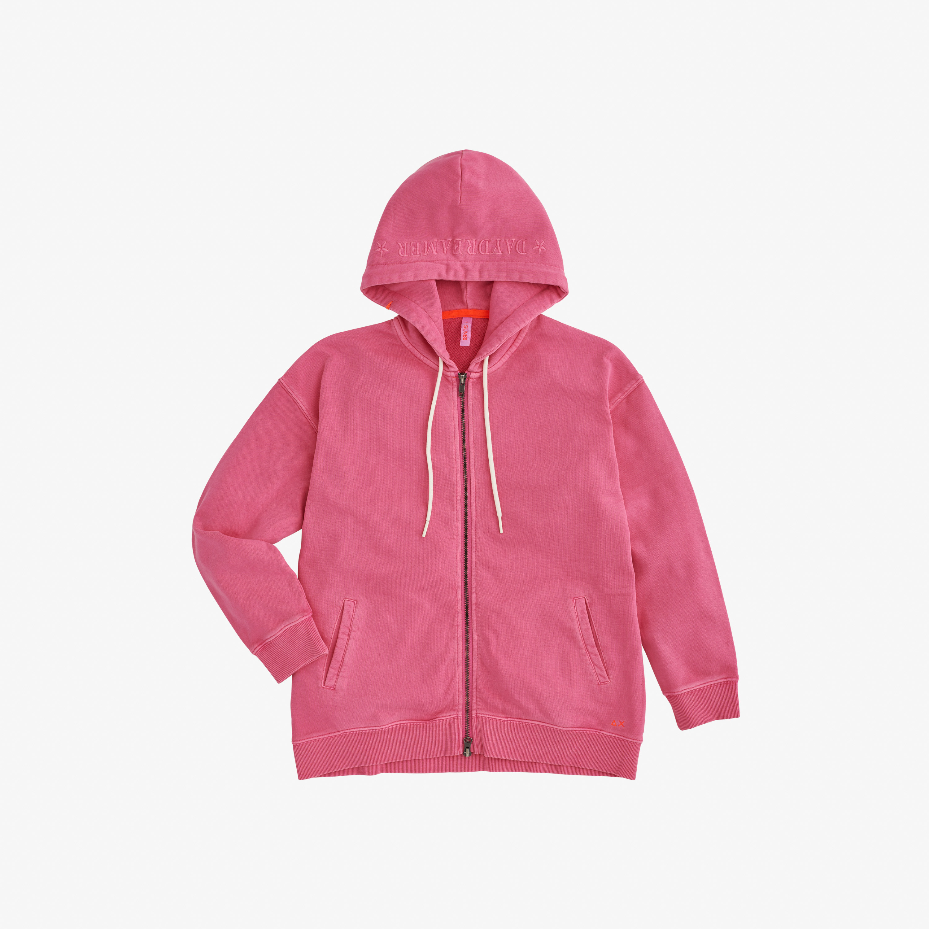 HOOD COLD DYE COTTON FL NUOVO ROSA