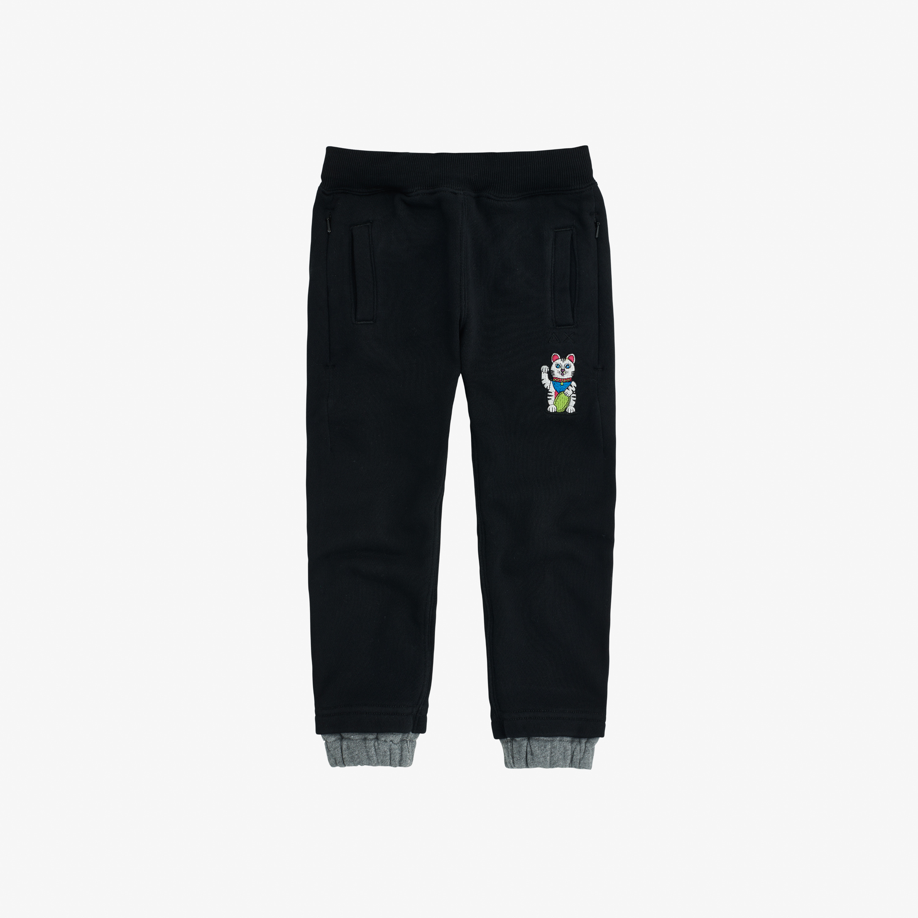 BOY'S PANT LONG COTT.FL BLACK