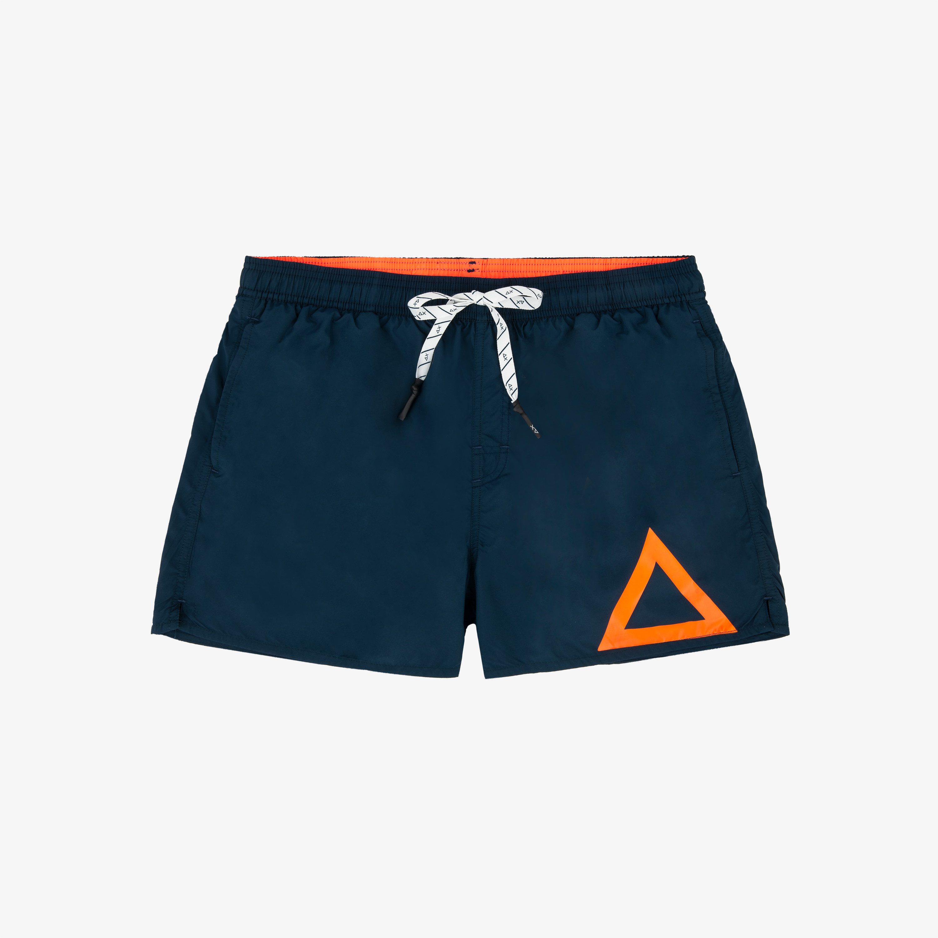 SWIM PANT SOLID BIG LOGO NAVY BLUE