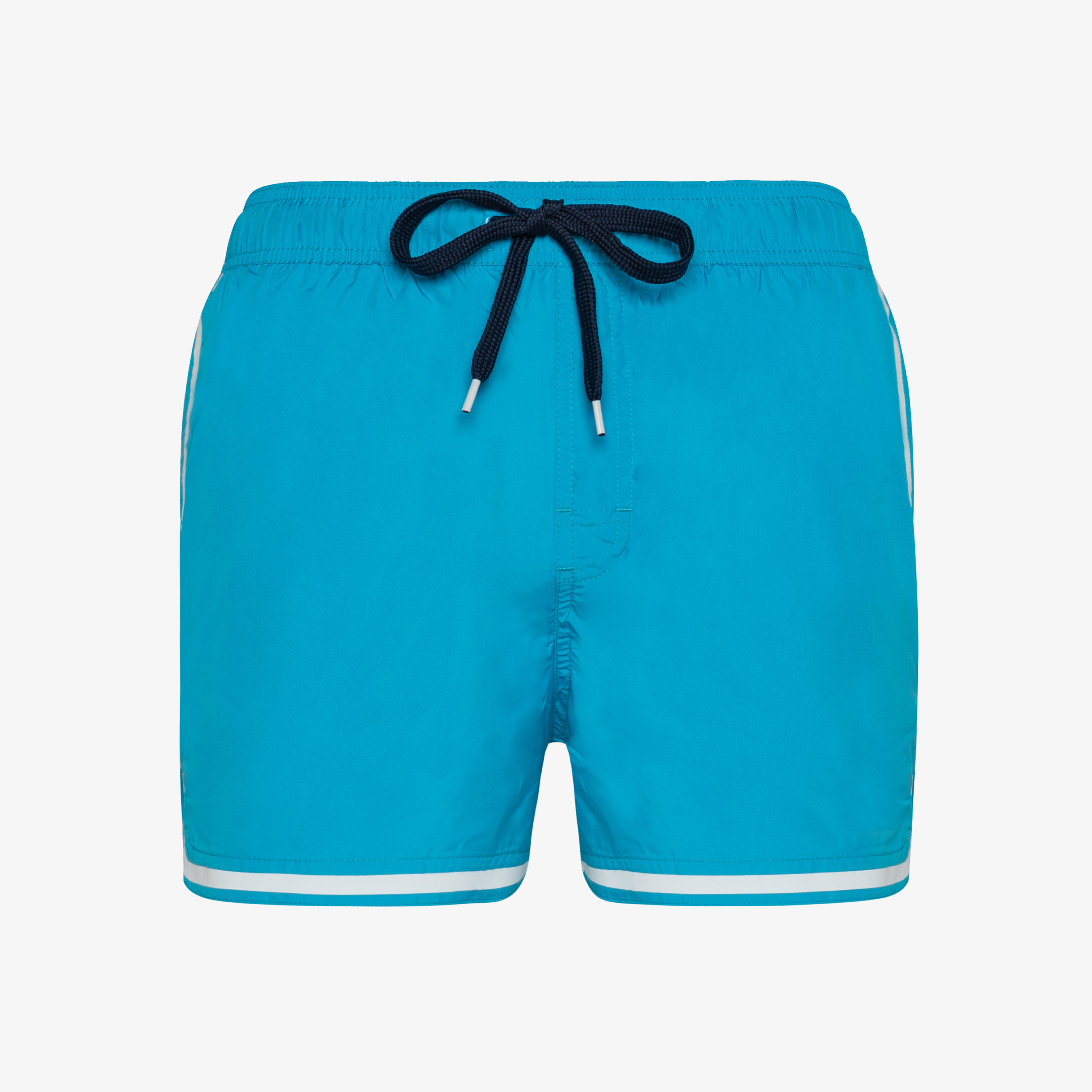 SWIM PANT SIDE BAND WHITE BLUE FLUO