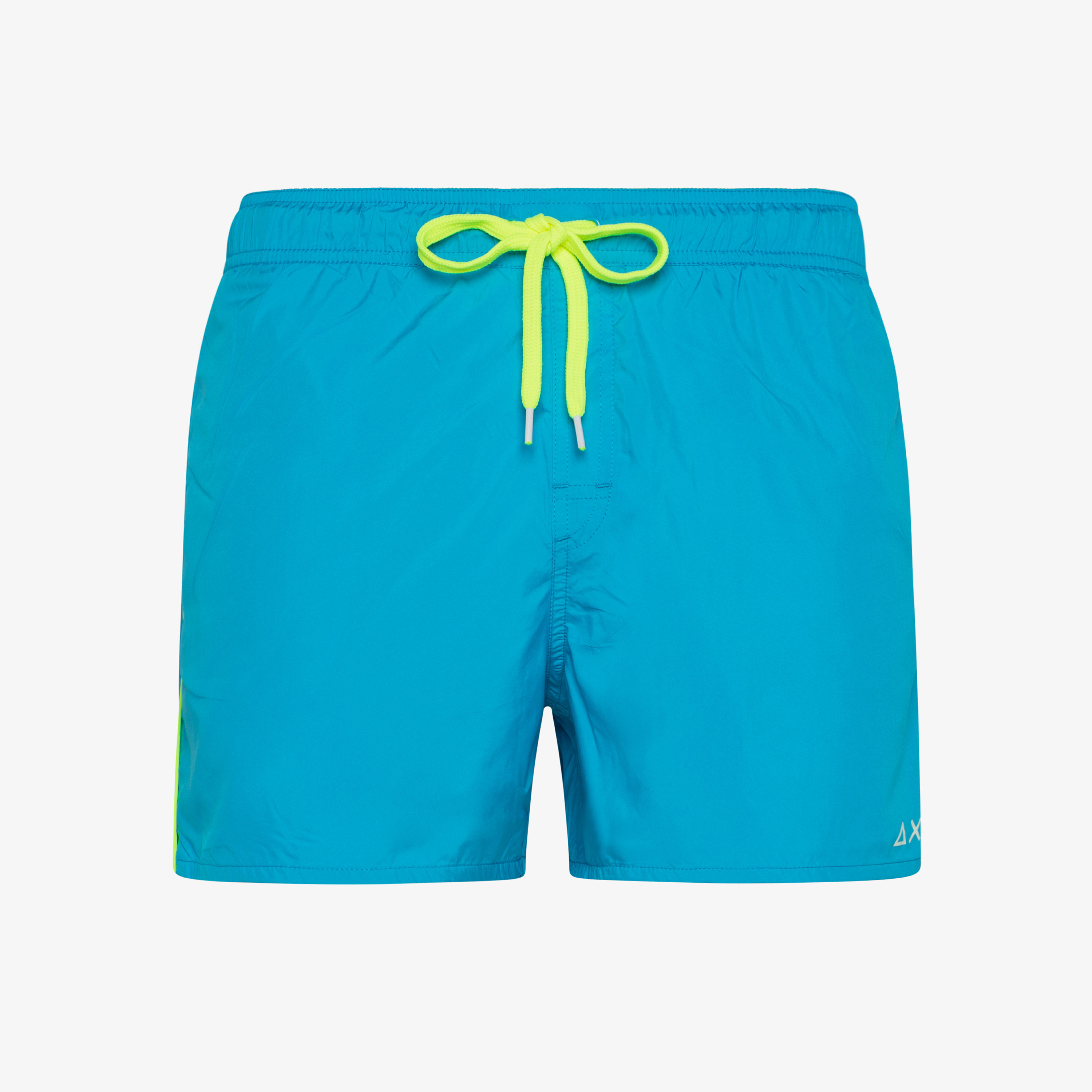 SWIM PANT WATER PRINT BLUE FLUO